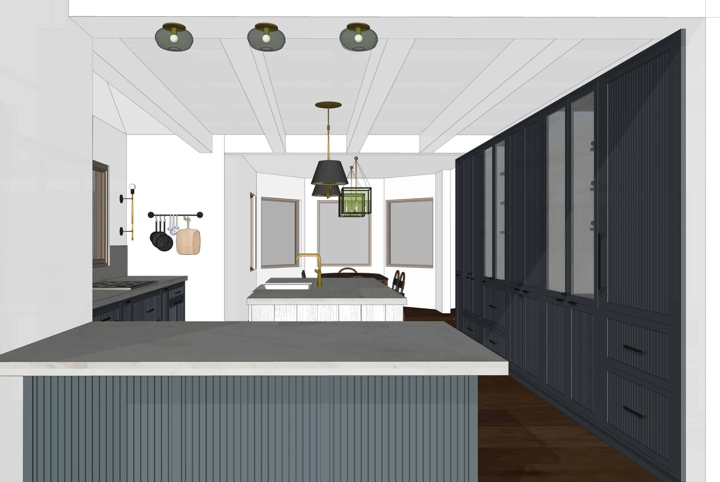 Emily Henderson Mountain Fixer Upper I Design You Decide Kitchen Render 01 6.20.181
