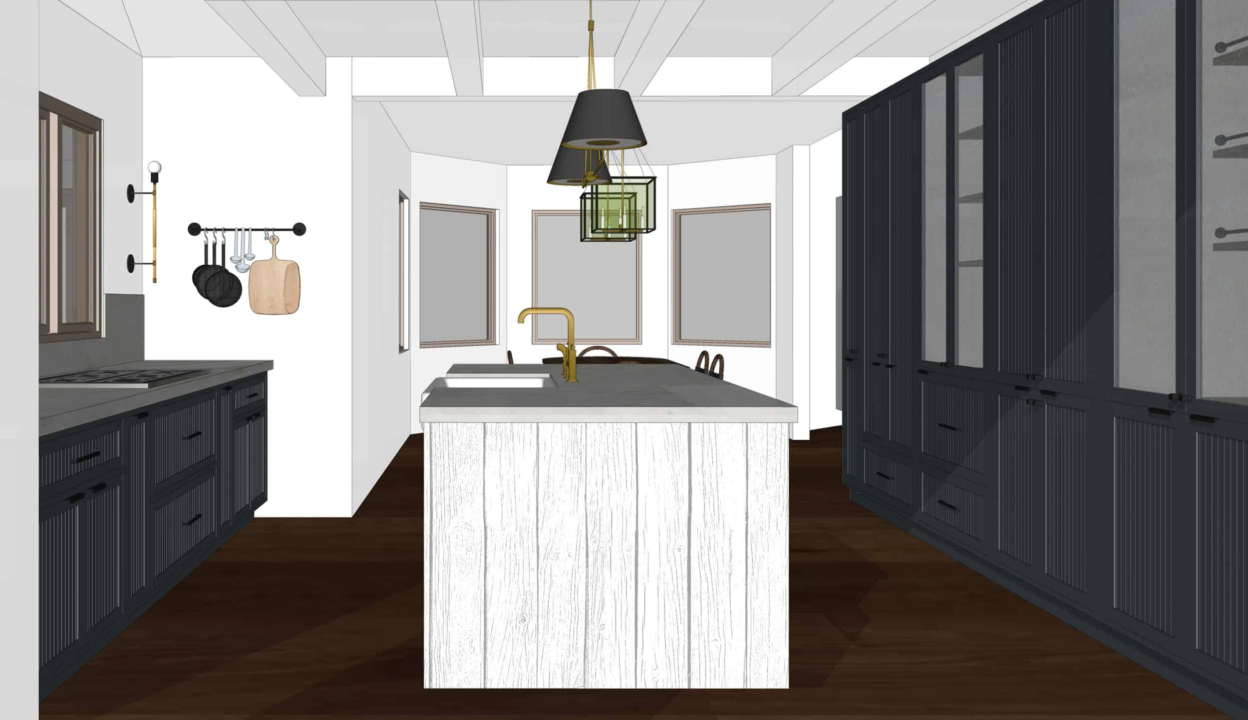 Emily Henderson Mountain Fixer Upper I Design You Decide Kitchen Render 02 6.20.181