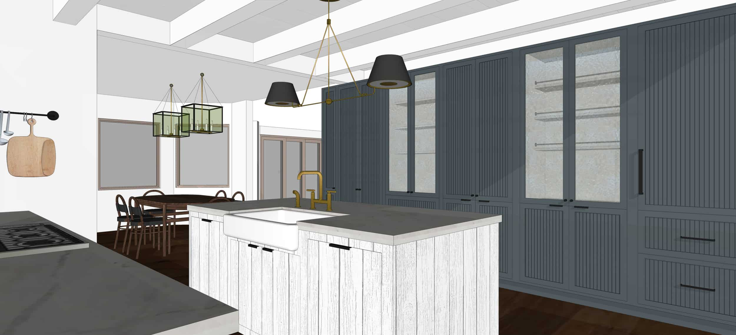 Emily Henderson Mountain Fixer Upper I Design You Decide Kitchen Render 04 6.20.18