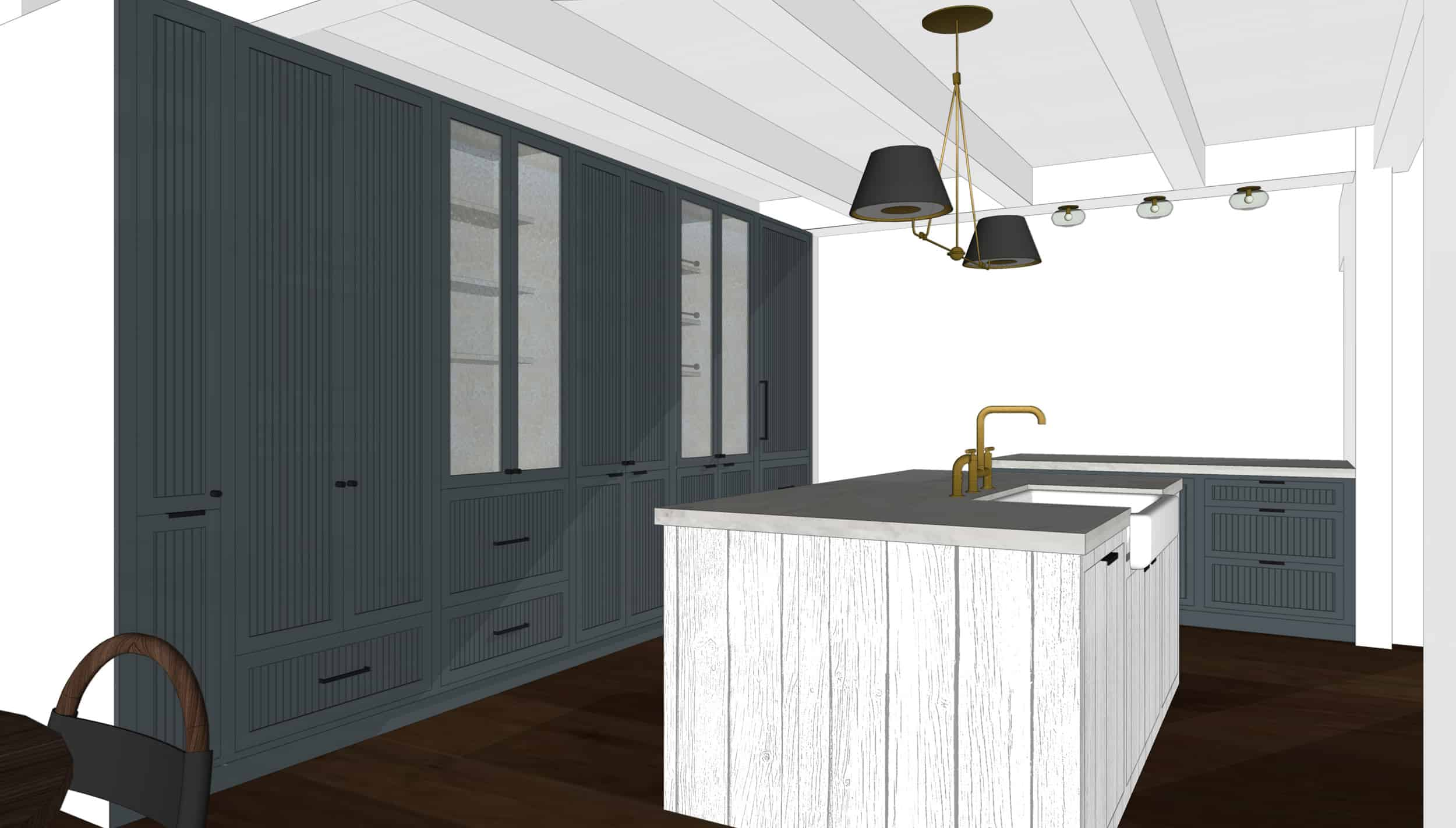 Emily Henderson Mountain Fixer Upper I Design You Decide Kitchen Render 05 6.20.18