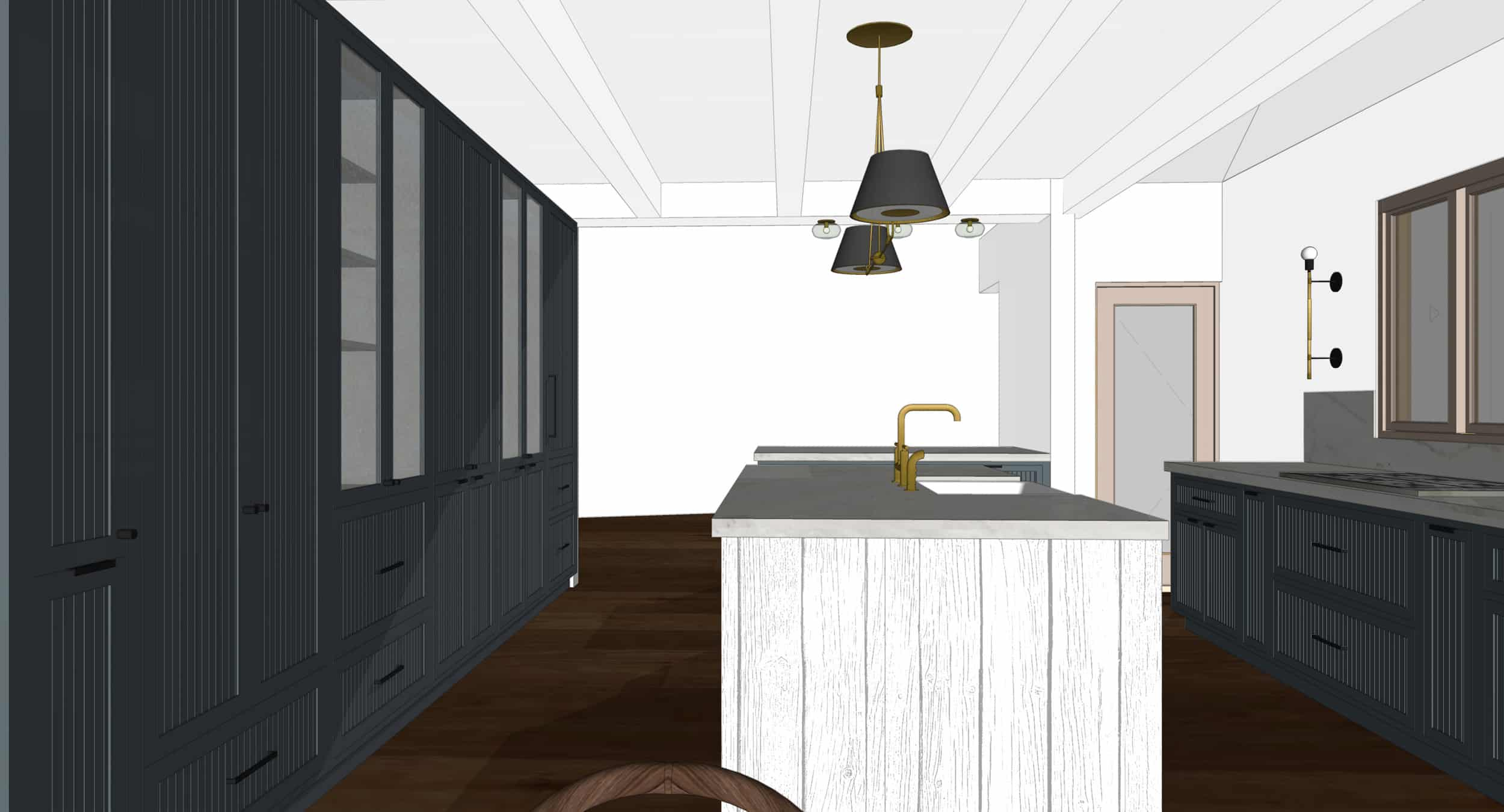 Emily Henderson Mountain Fixer Upper I Design You Decide Kitchen Render 06 6.20.18