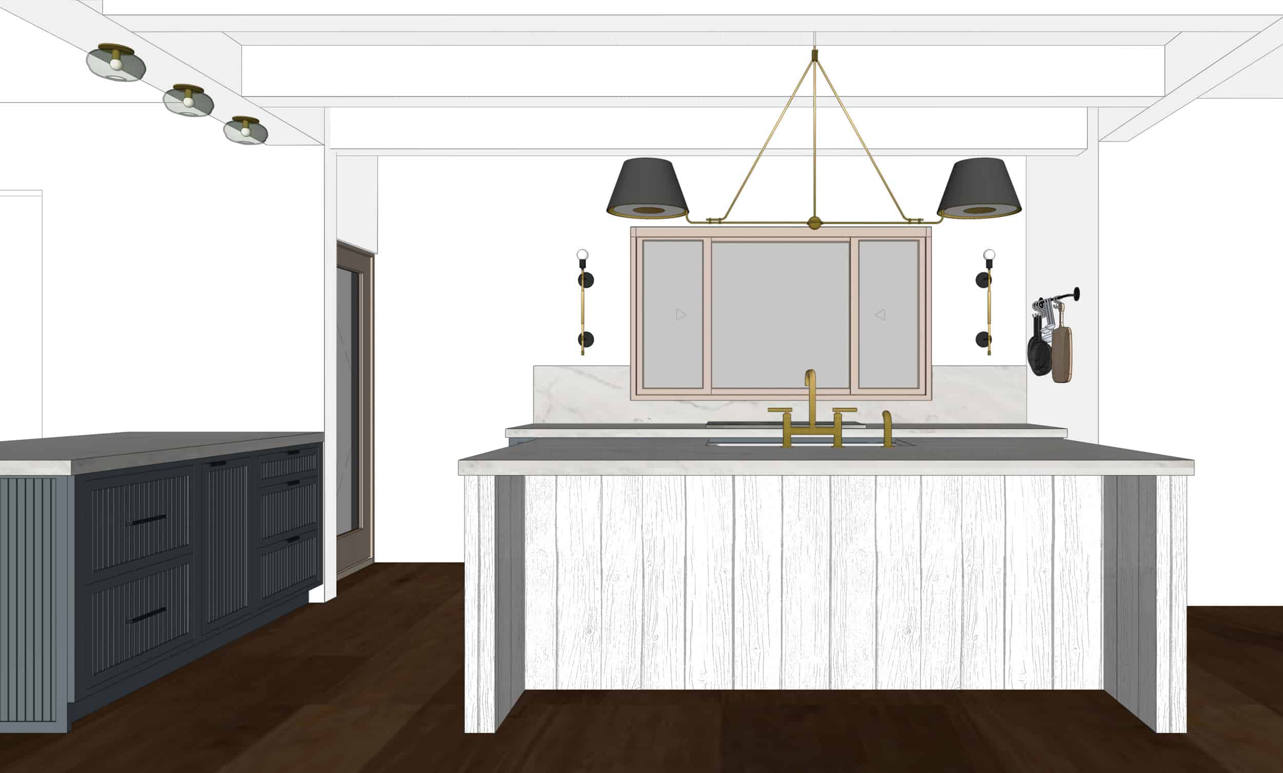 Emily Henderson Mountain Fixer Upper I Design You Decide Kitchen Render 07 6.20.18