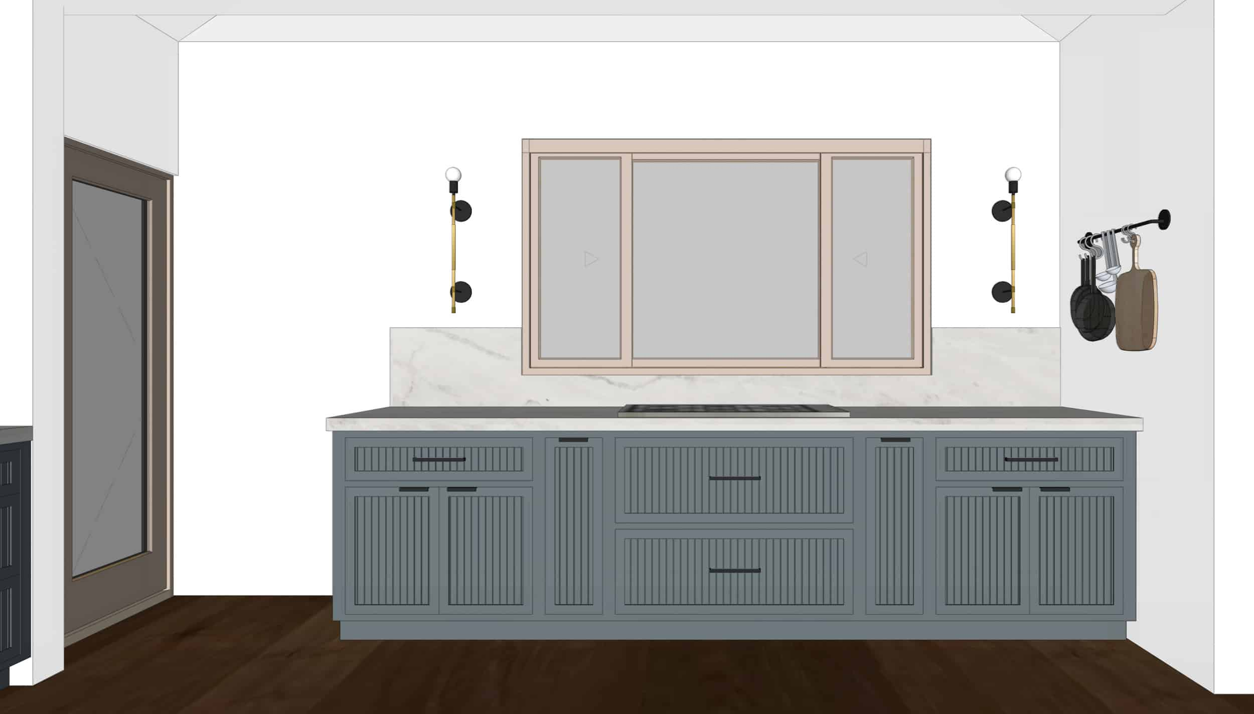 Emily Henderson Mountain Fixer Upper I Design You Decide Kitchen Render 09 6.20.18