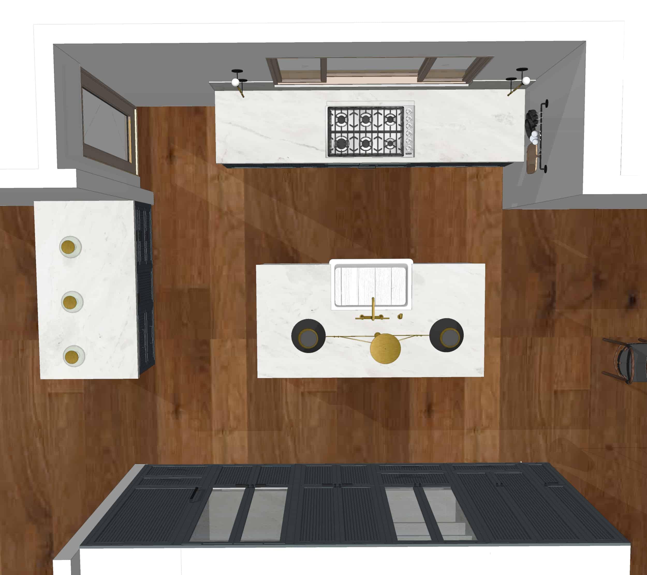 Emily Henderson Mountain Fixer Upper I Design You Decide Kitchen Render Plan 6.20.18