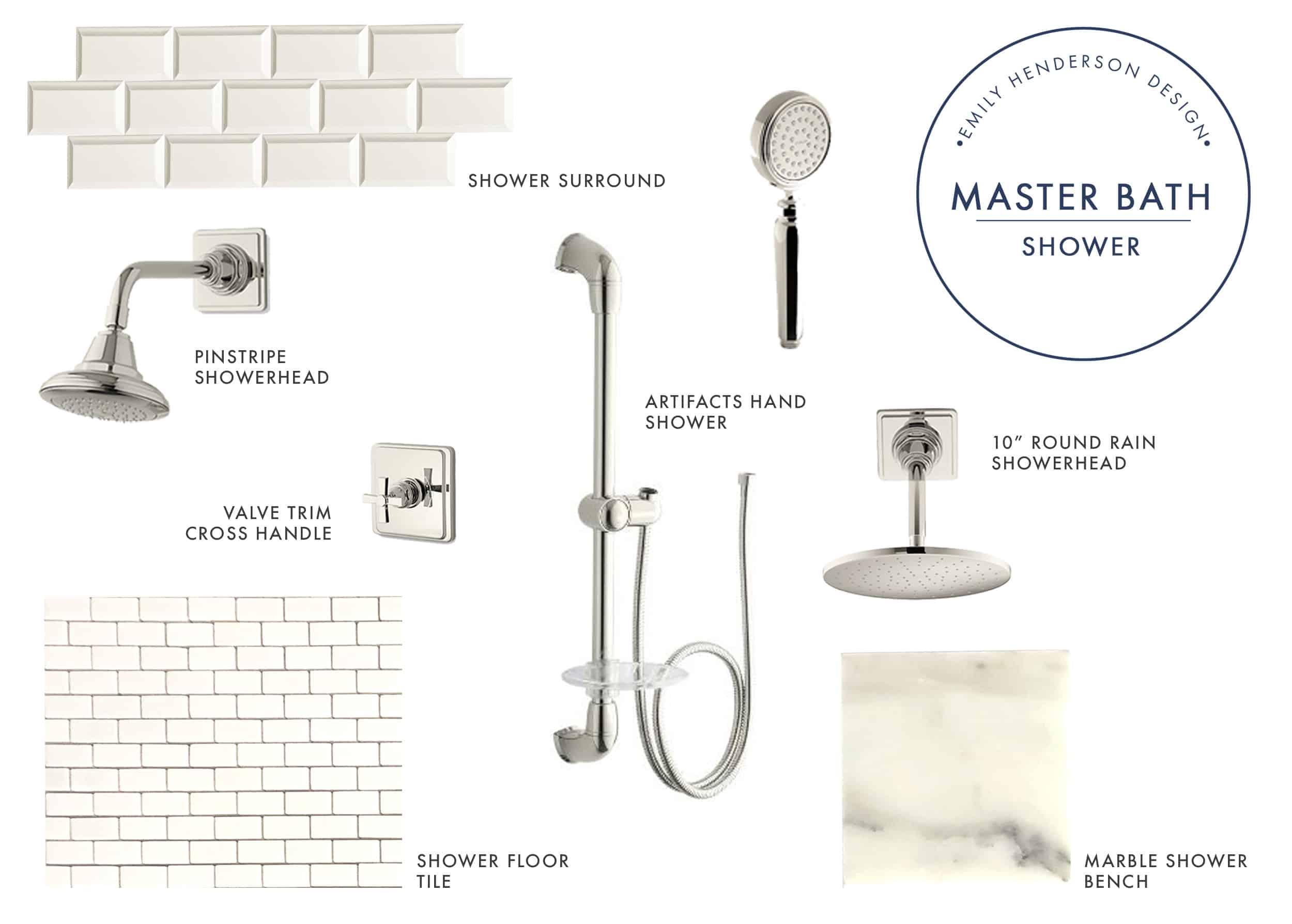 Emily Henderson Portland Fixer Upper Master Bath Kohler Product Shower Jess2