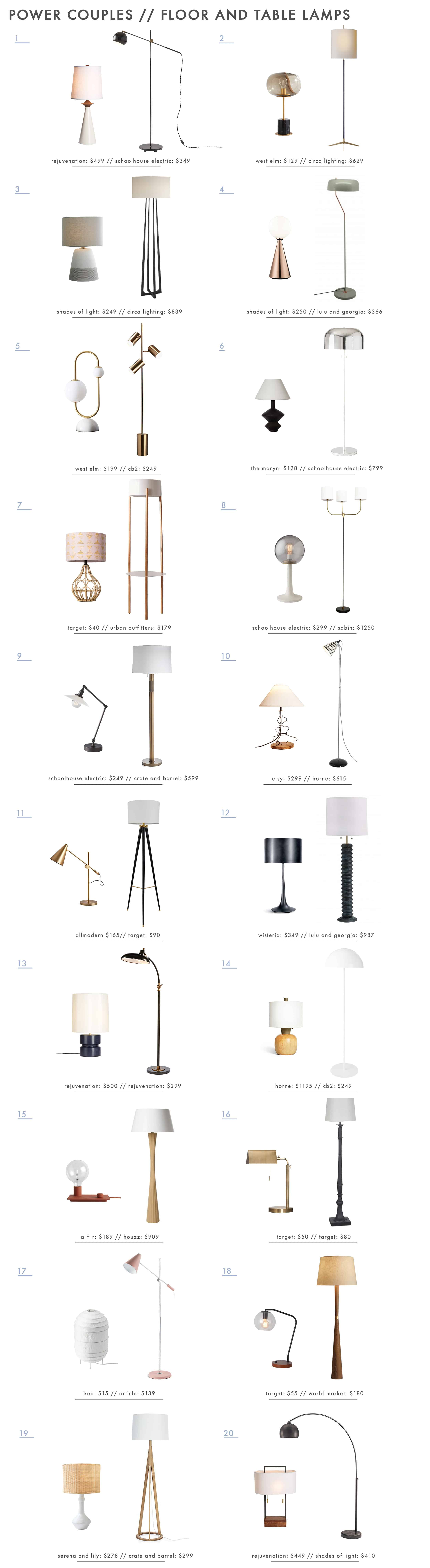 20 Floor Table Lamp Combinations For Your Home That Work Why