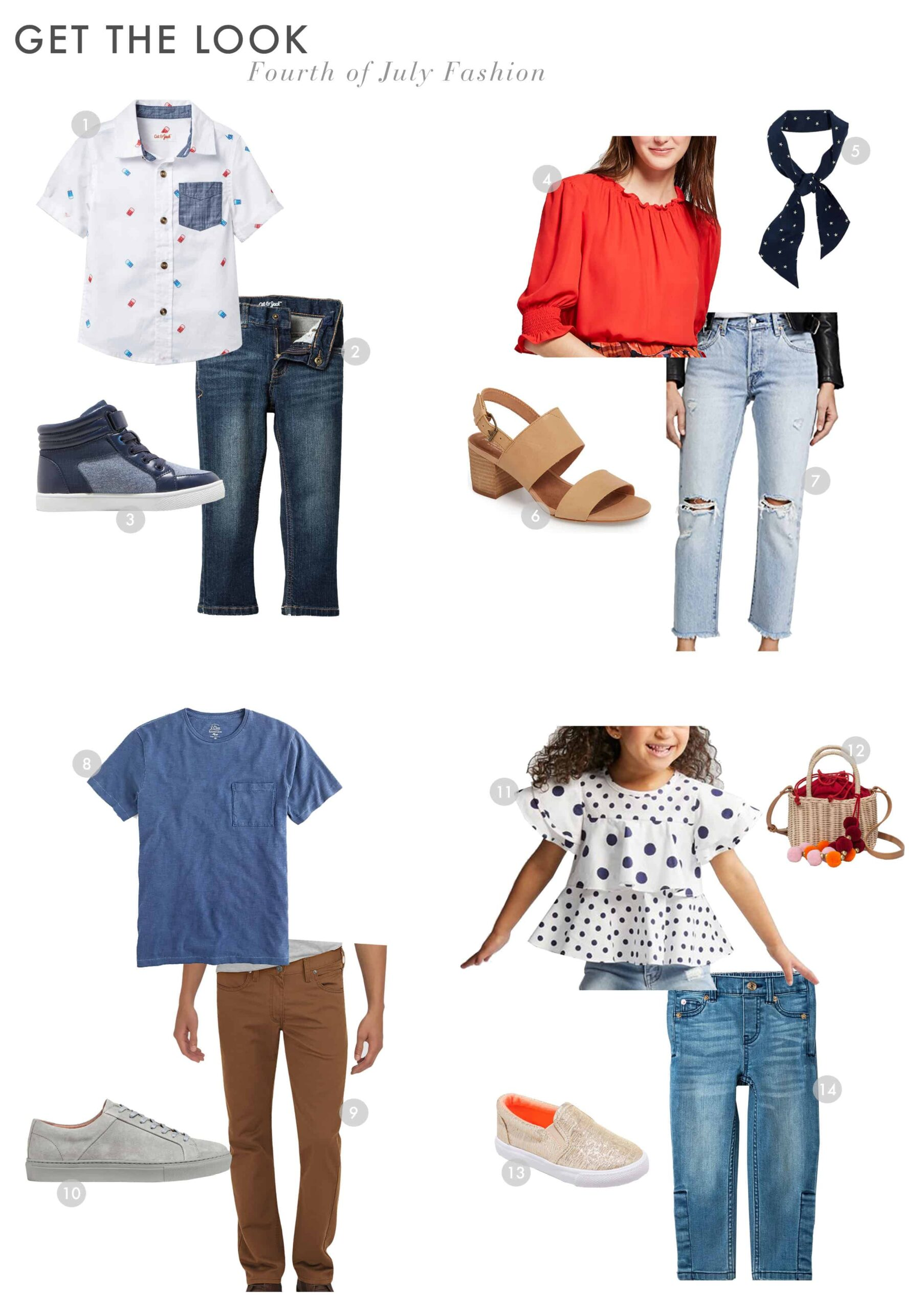 Emily Henderson Rachael Ray Fourth Of July Kids Get The Look Fashion 1