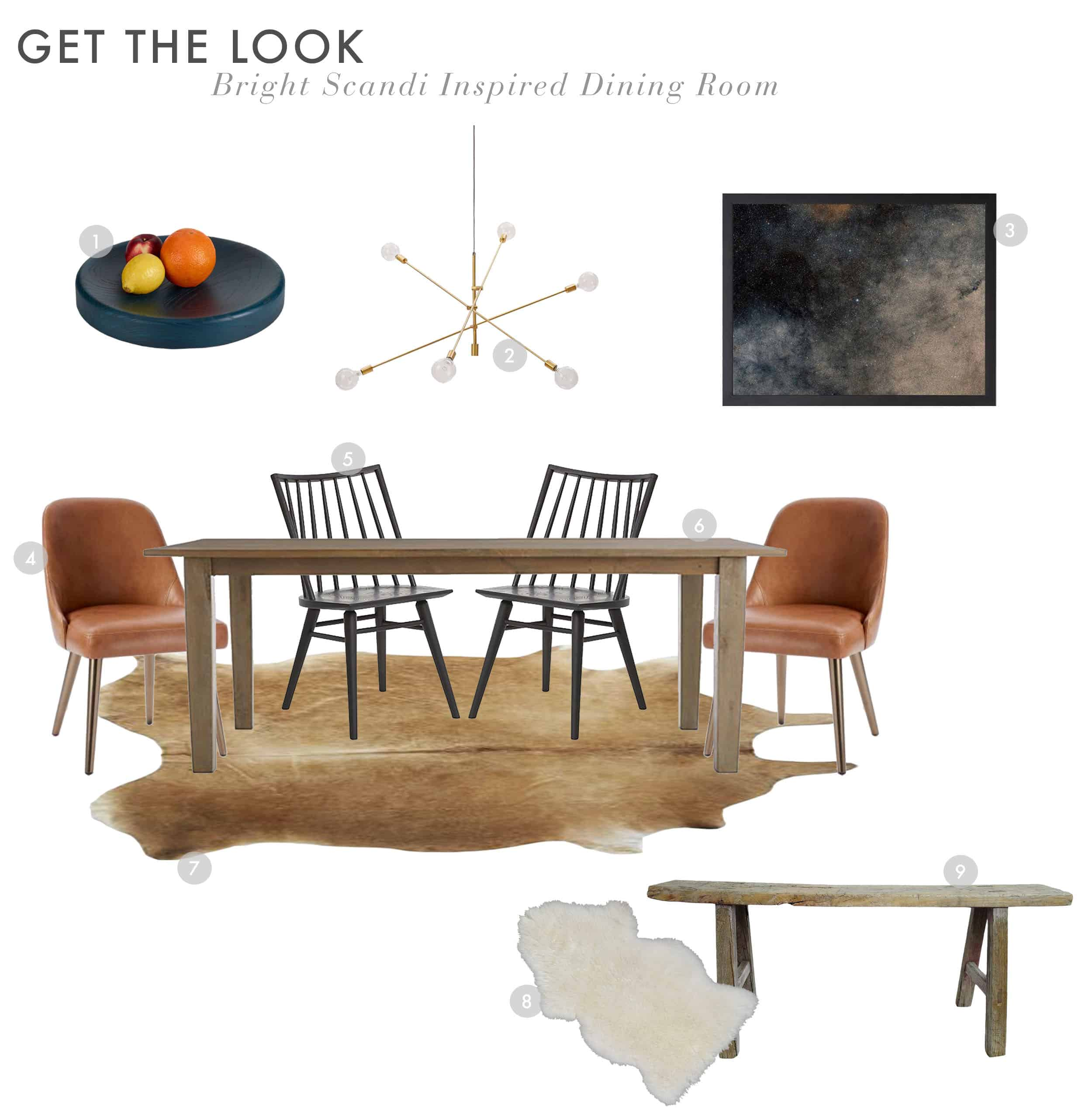 Get The Look Scandi House Dining Room