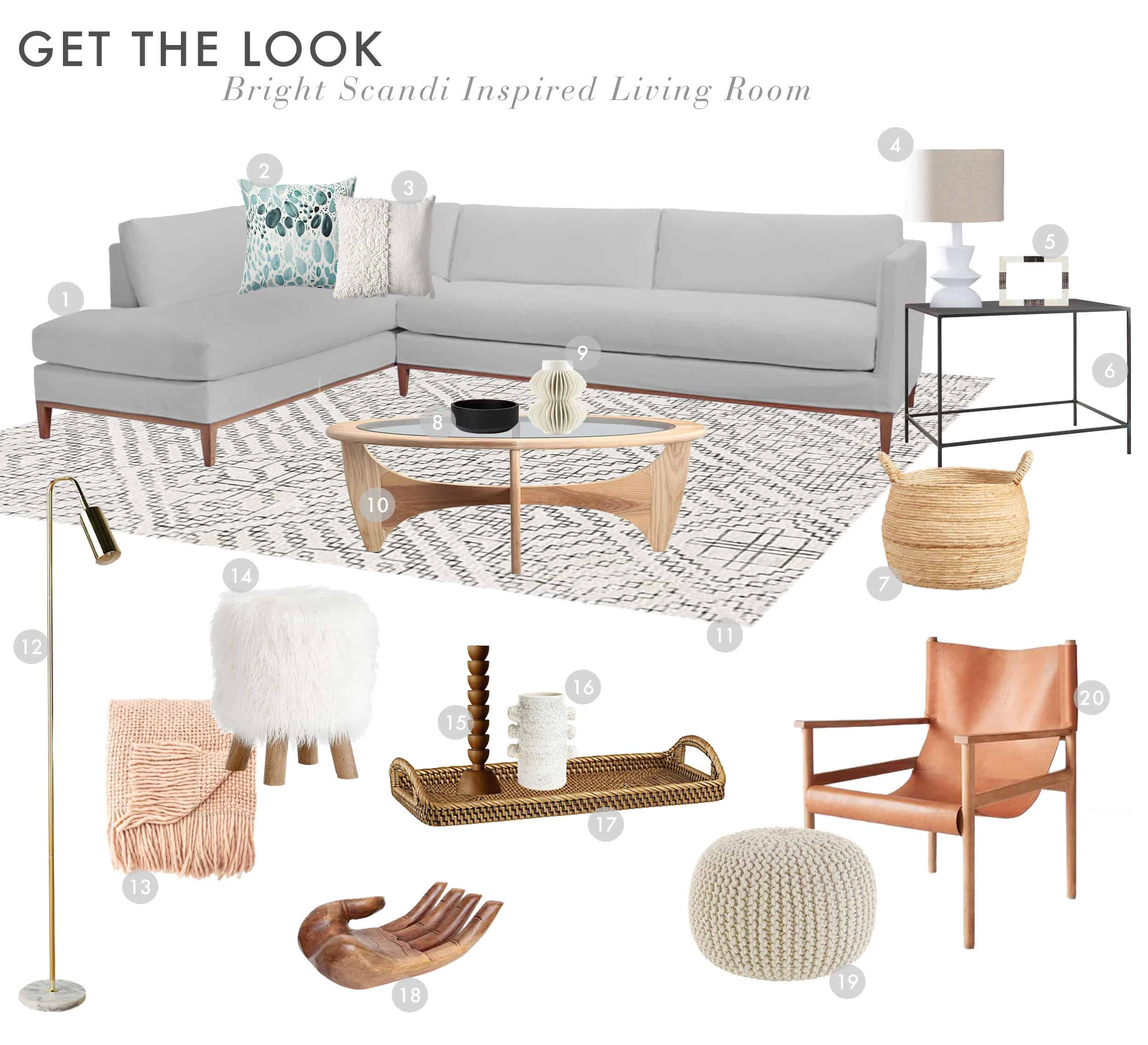 Get The Look Scandi House Livingroom
