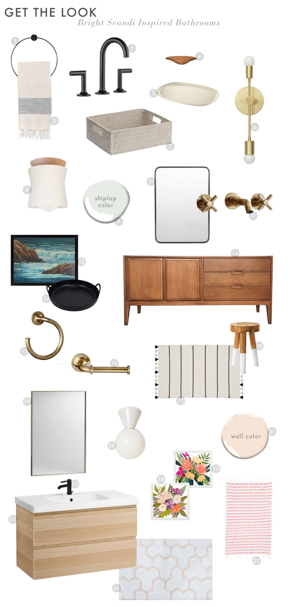 Get The Look Scandi House Master Bath 11