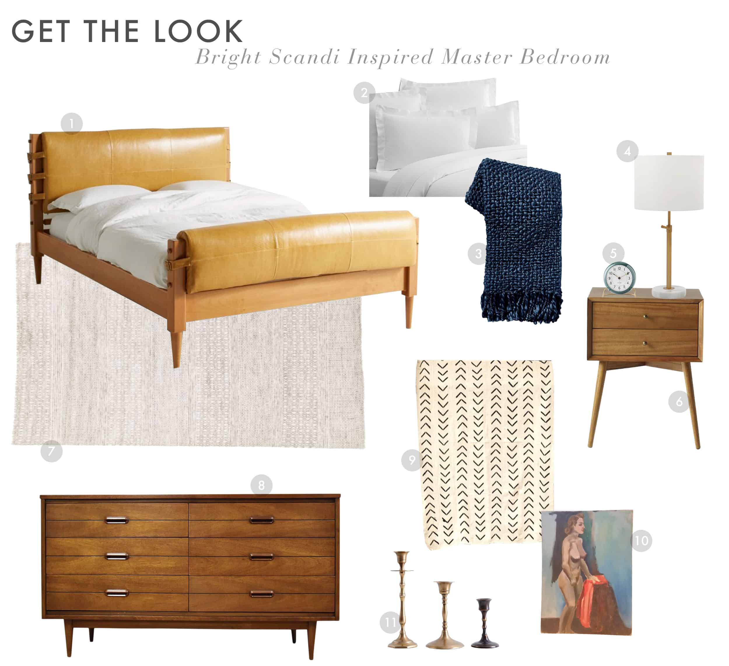 Get The Look Scandi House Master Bedroom