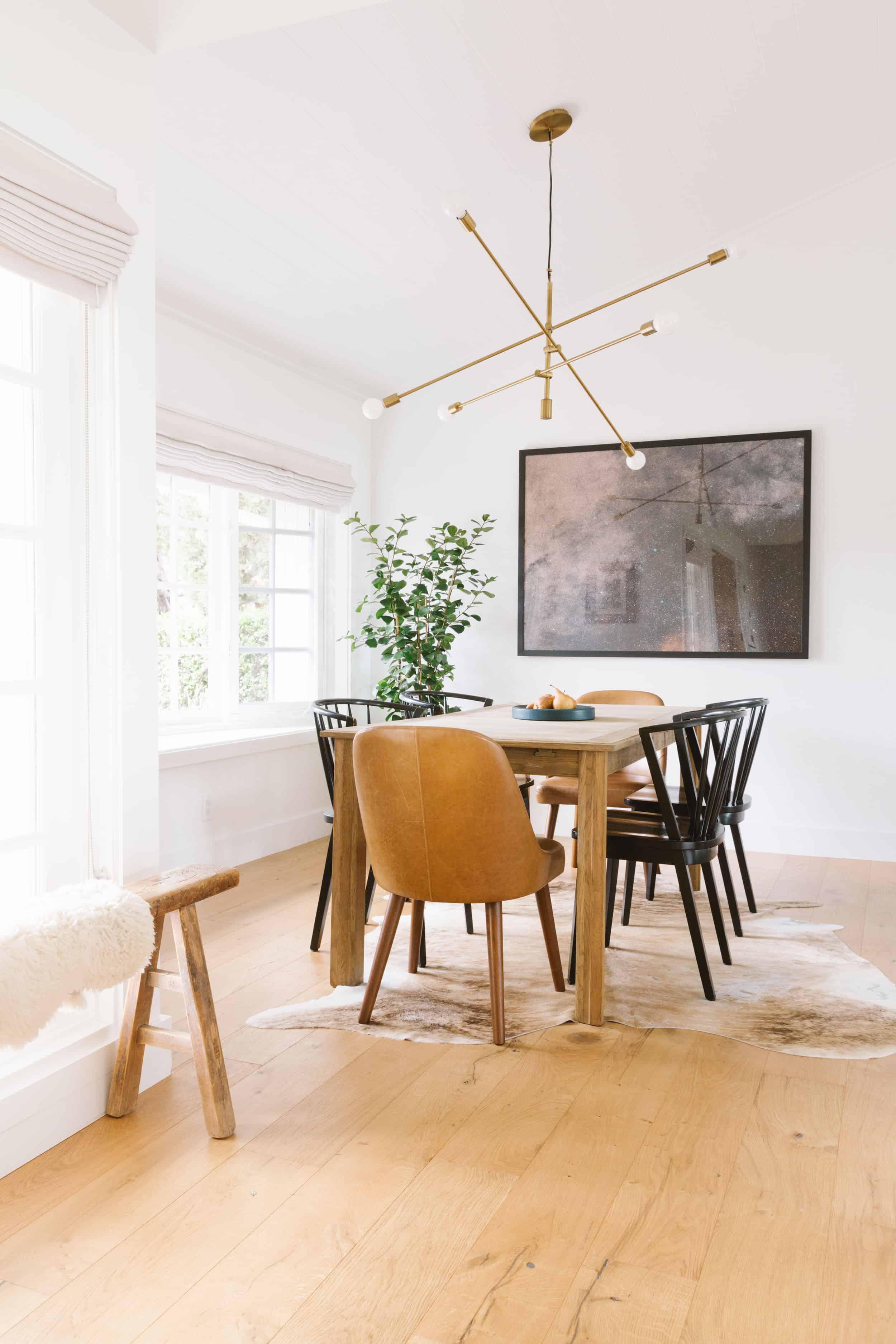 Samantha Gluck Emily Henderson Bright Minimal Dining Space