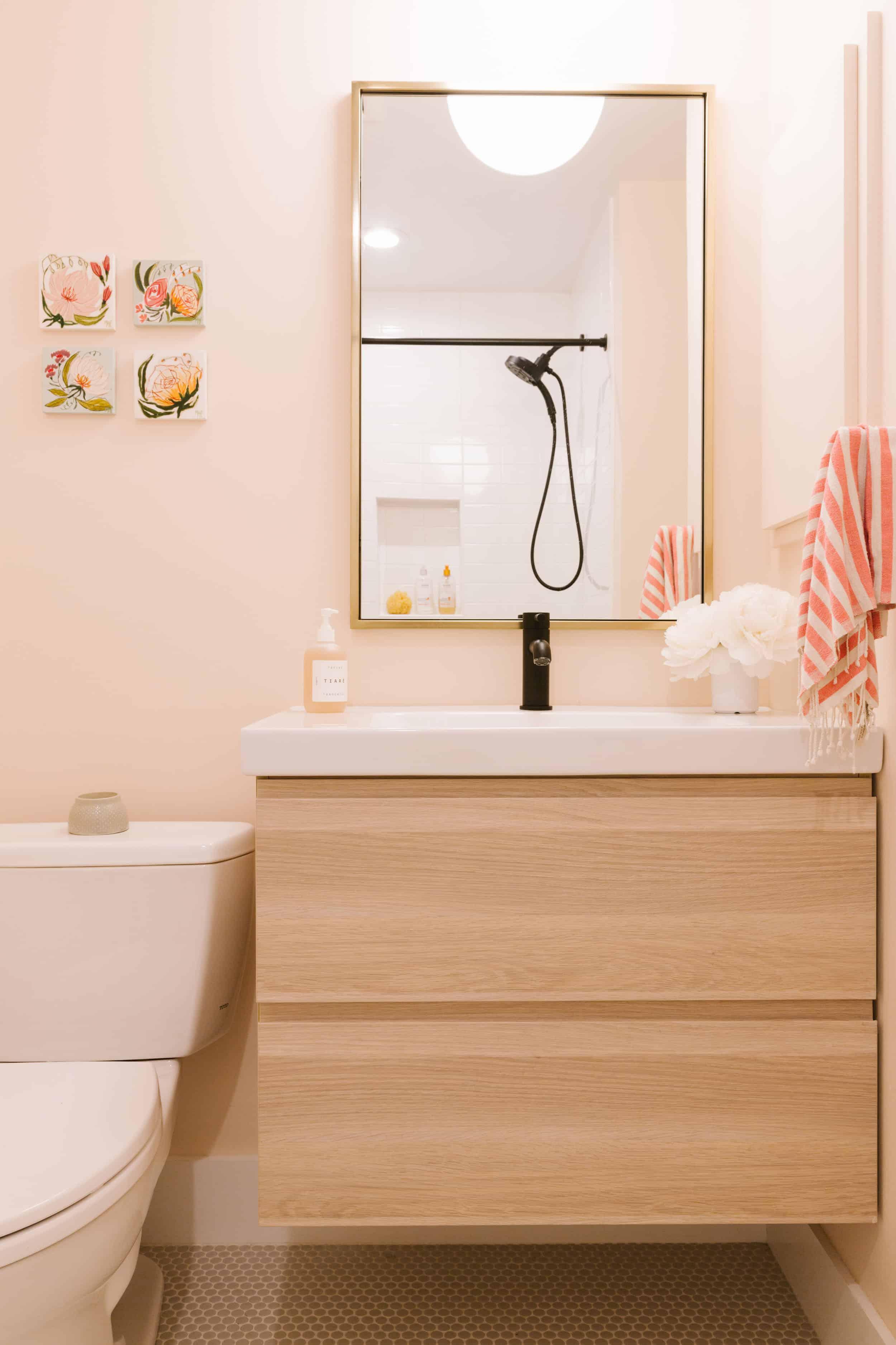 Samantha Gluck Emily Henderson Pink Bathroom