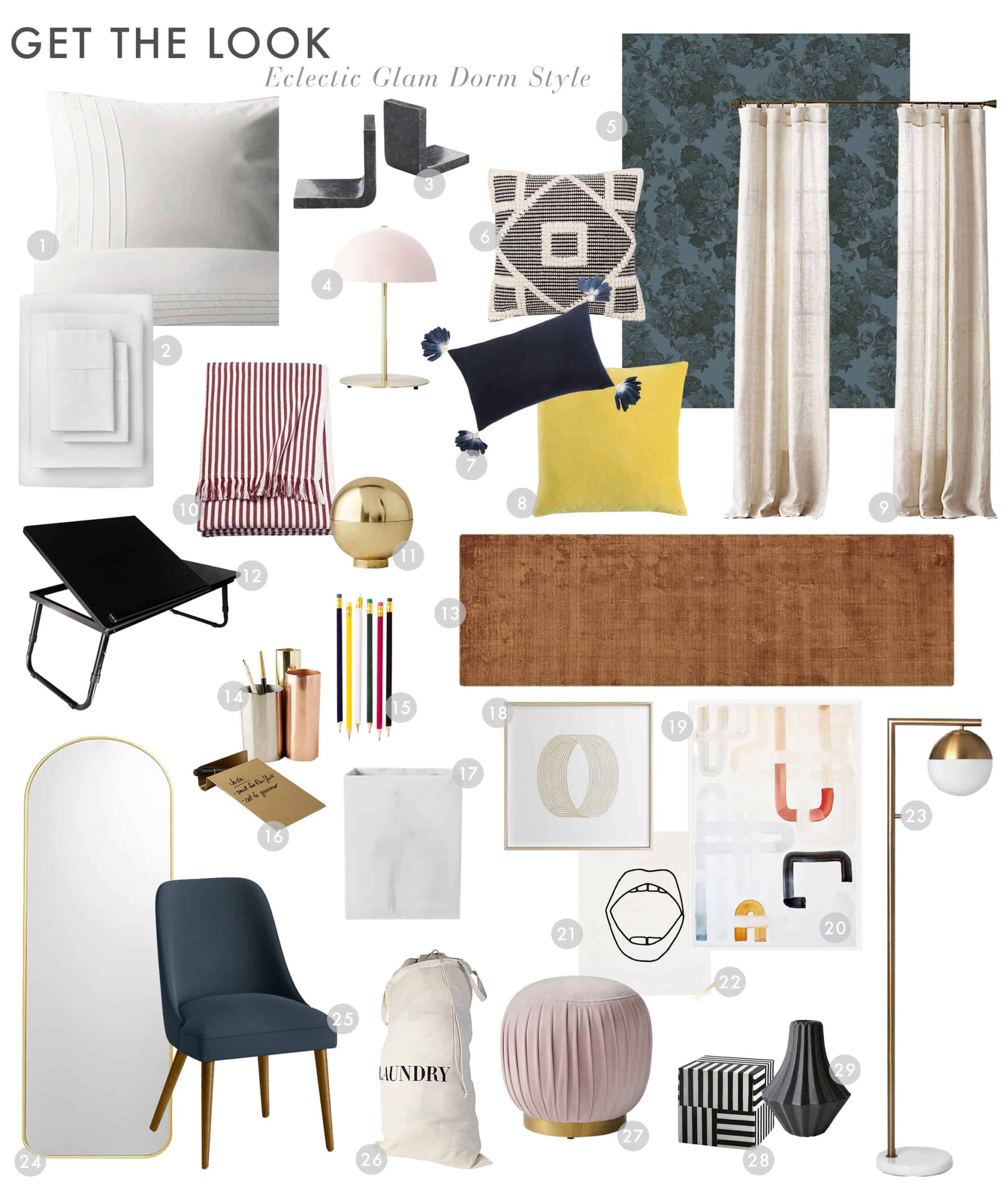 Dorm Room Eclectic Glam1
