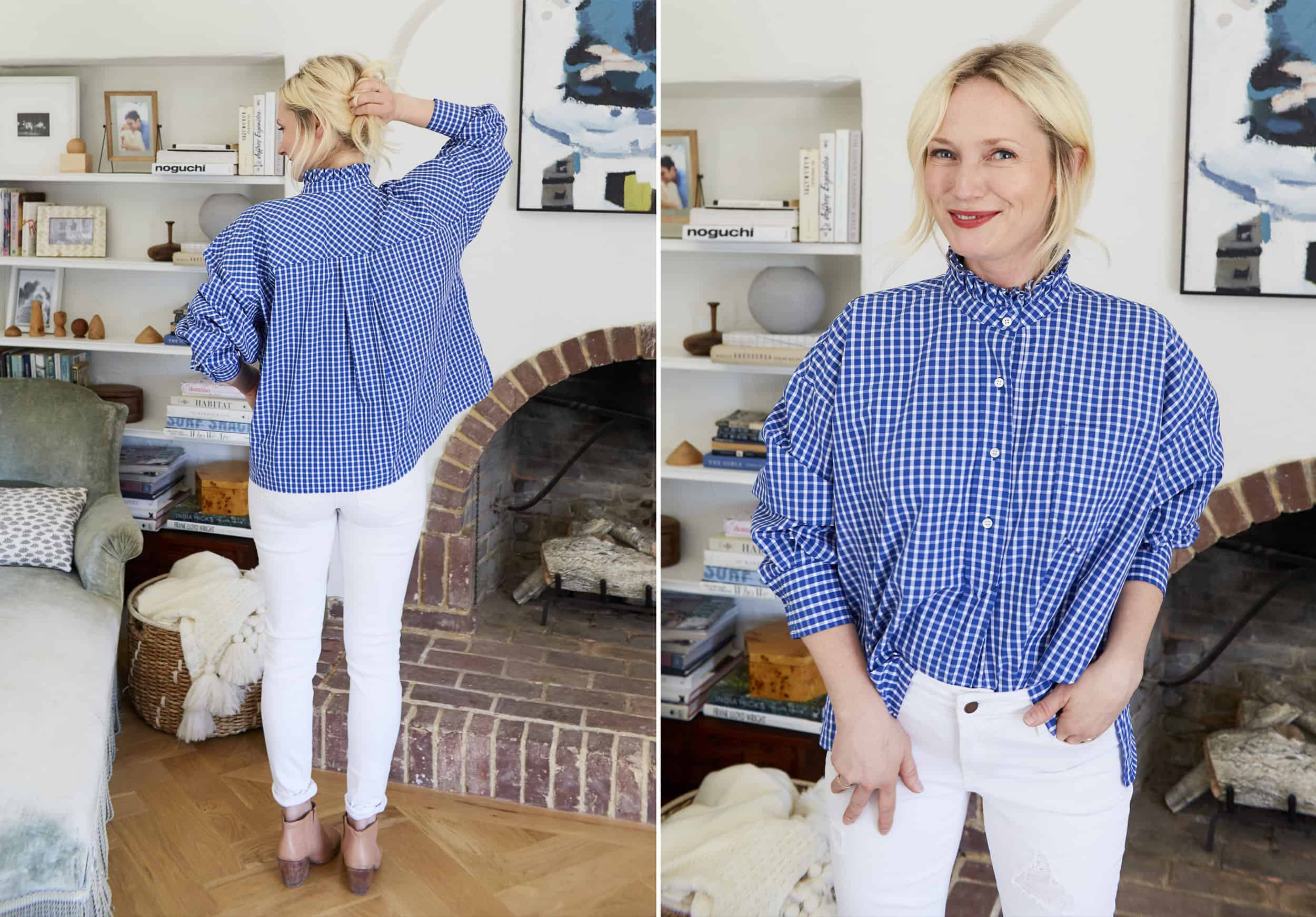 Emily Henderson Nordstroms Anniversary Sale Fall Essentials 2018 Blue Plaid Button Down