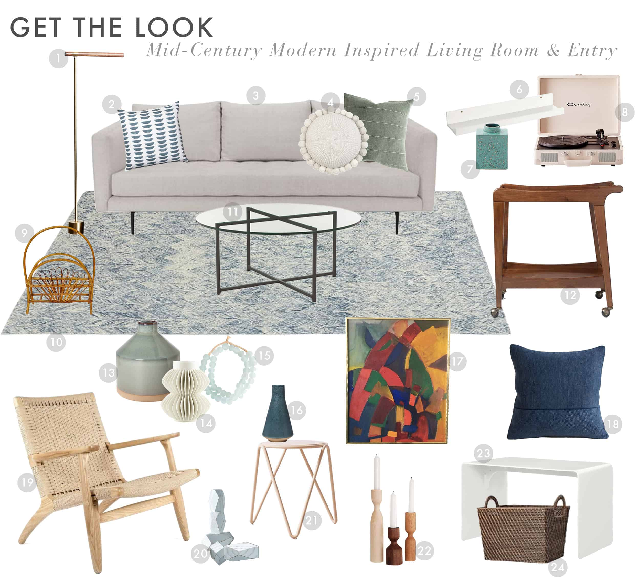 Emily Henderson Get The Look Modern Scandi House Sam Gluck Entry Living Room