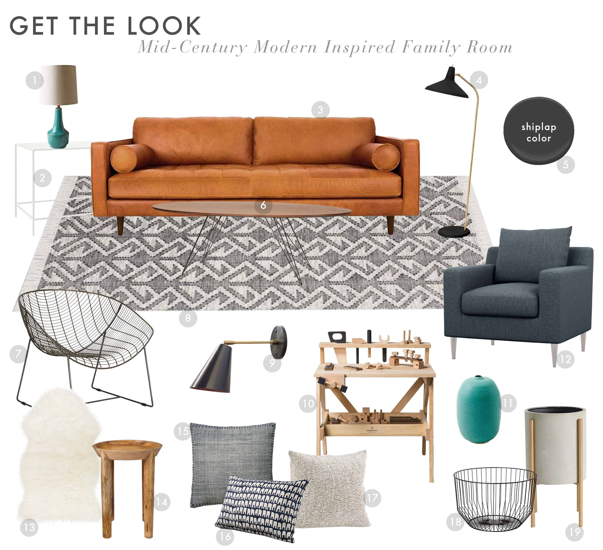 Emily Henderson Get The Look Modern Scandi House Sam Gluck Family Room
