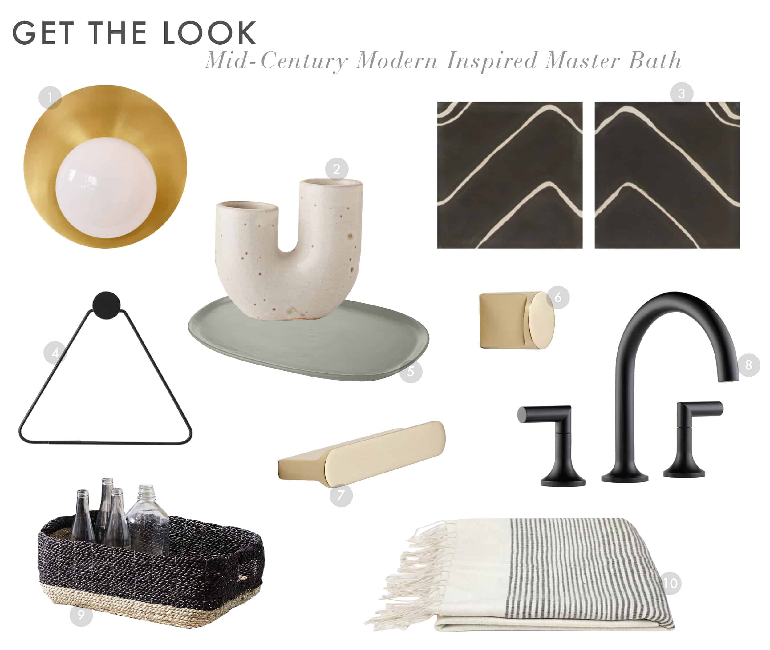Emily Henderson Get The Look Modern Scandi House Sam Gluck Master Bath