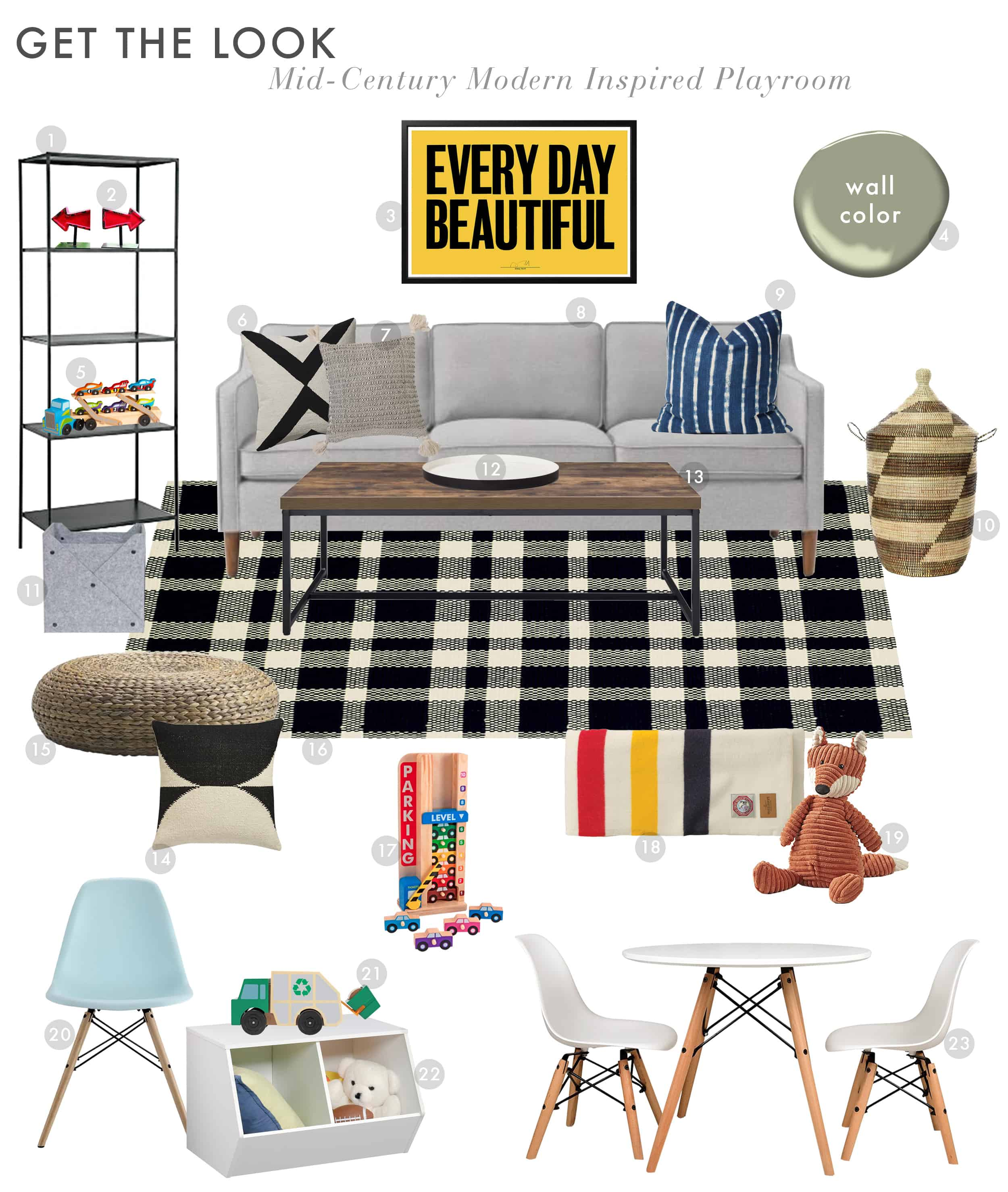 Emily Henderson Get The Look Modern Scandi House Sam Gluck Playroom New