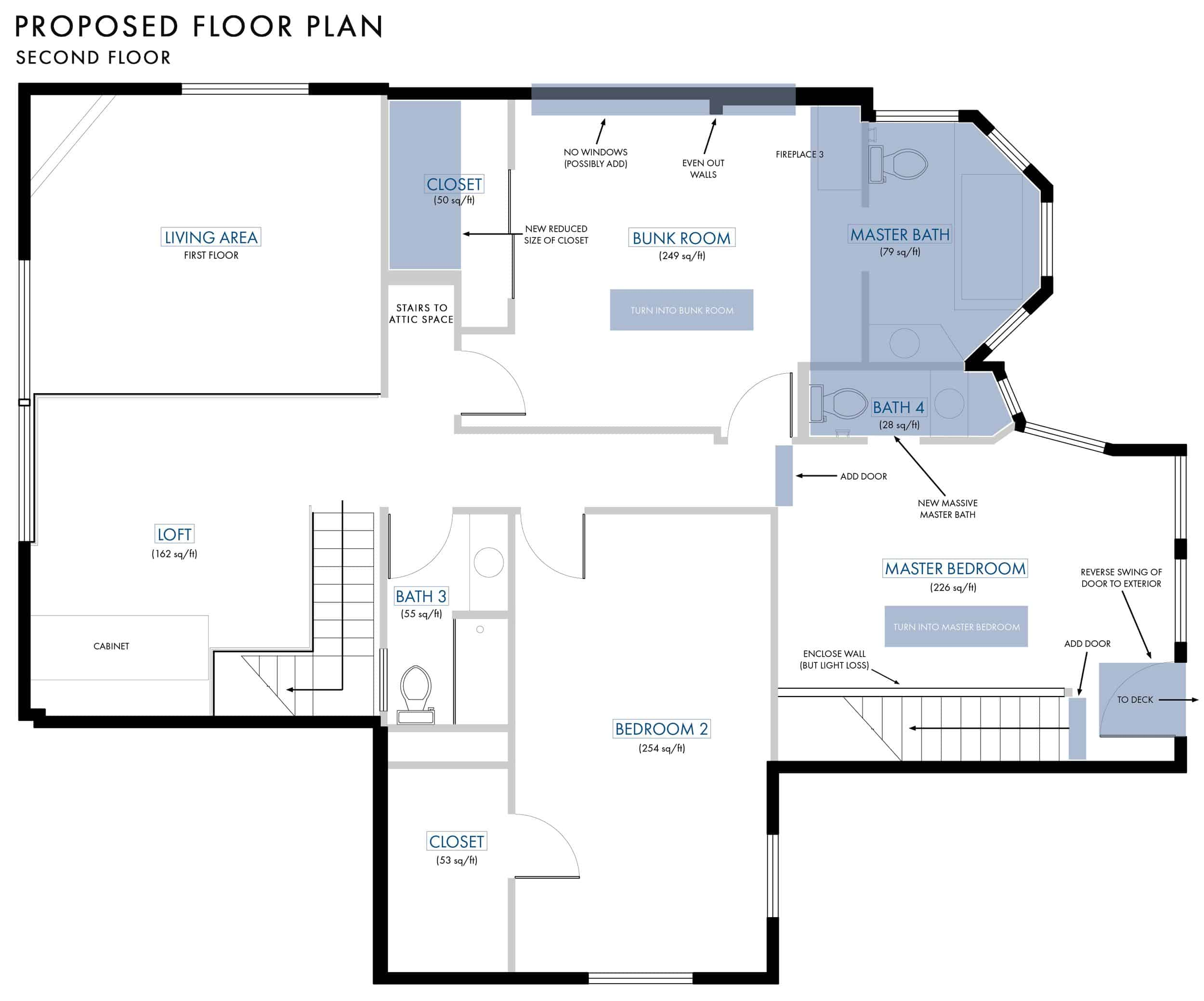 Emily Henderson Lake House Floor Plan Second Floor Entire Floor Changes 021