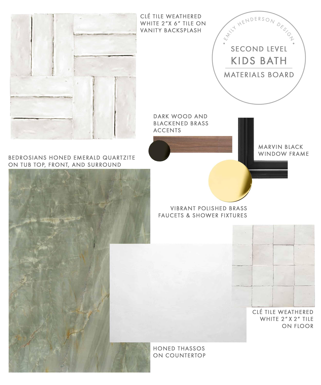 Emily Henderson Mountain Fixer Upper I Design You Decide Kids Bath Materials Final 2