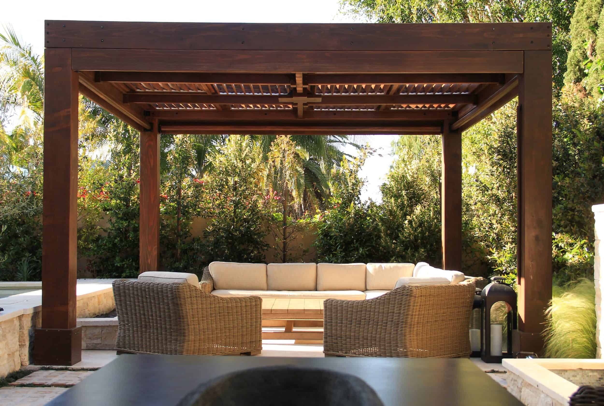Redwood Patio Pergola