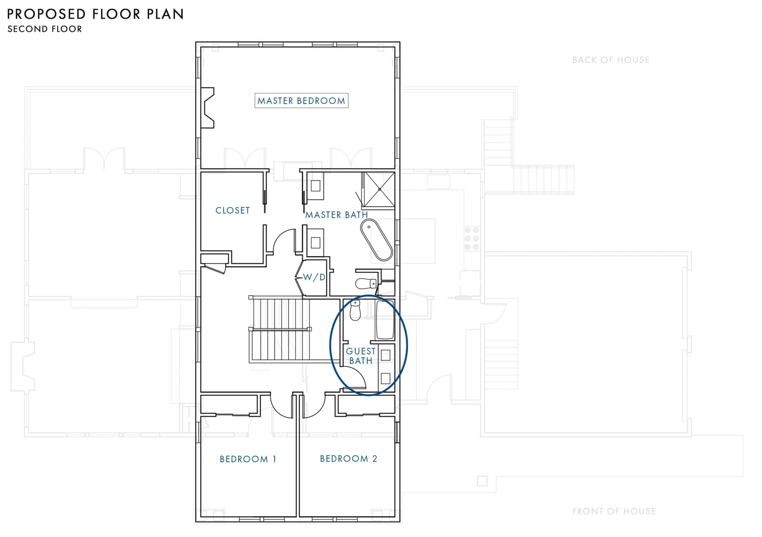 Emily Henderson Portland Fixer Upper Traditional Floor Plans Proposed Plan Second Floor