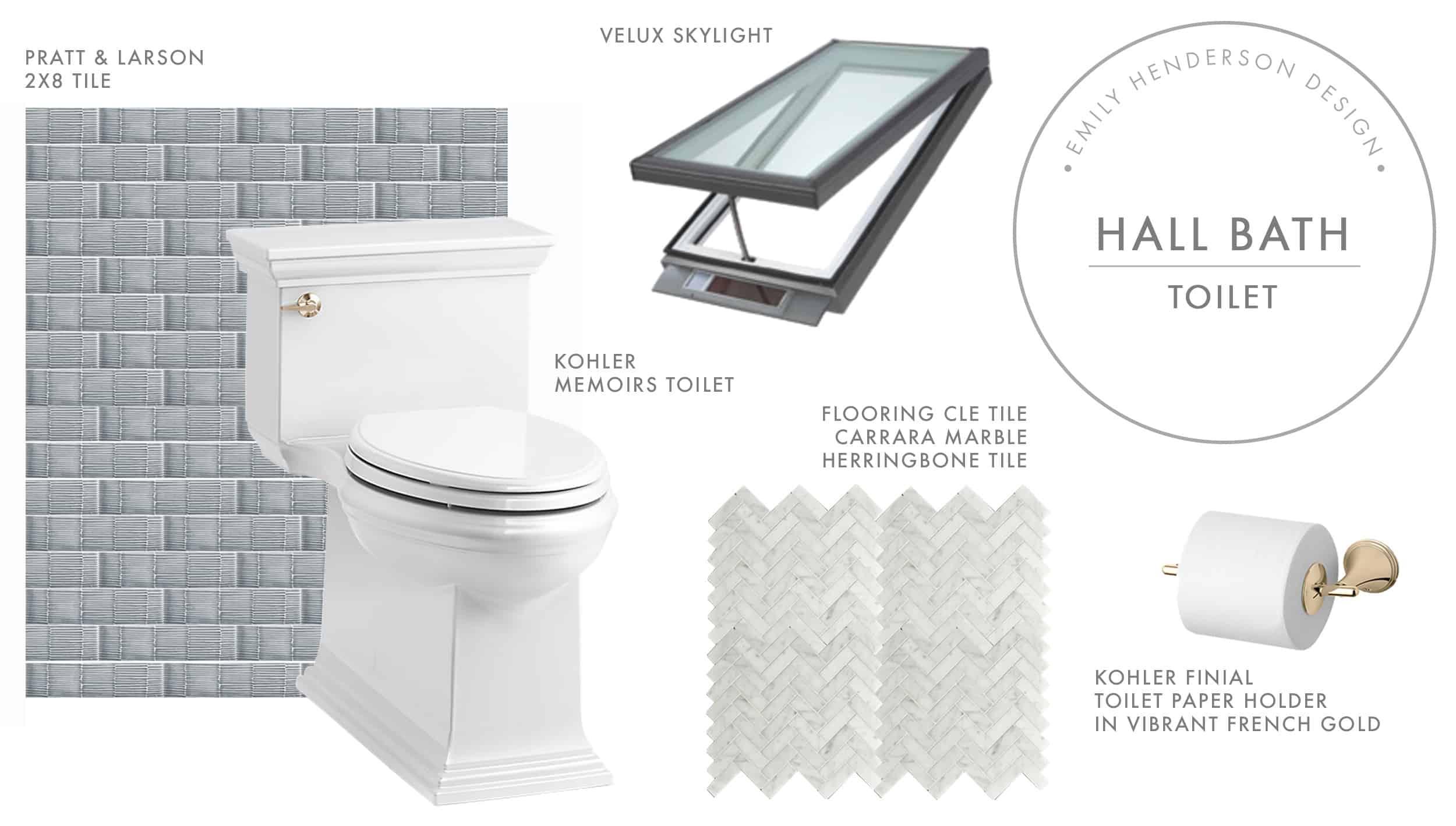 Emily Henderson Portland Traditional Fixer Upper Kids Bath Progress Design Moodboard Toilet 7.31.18
