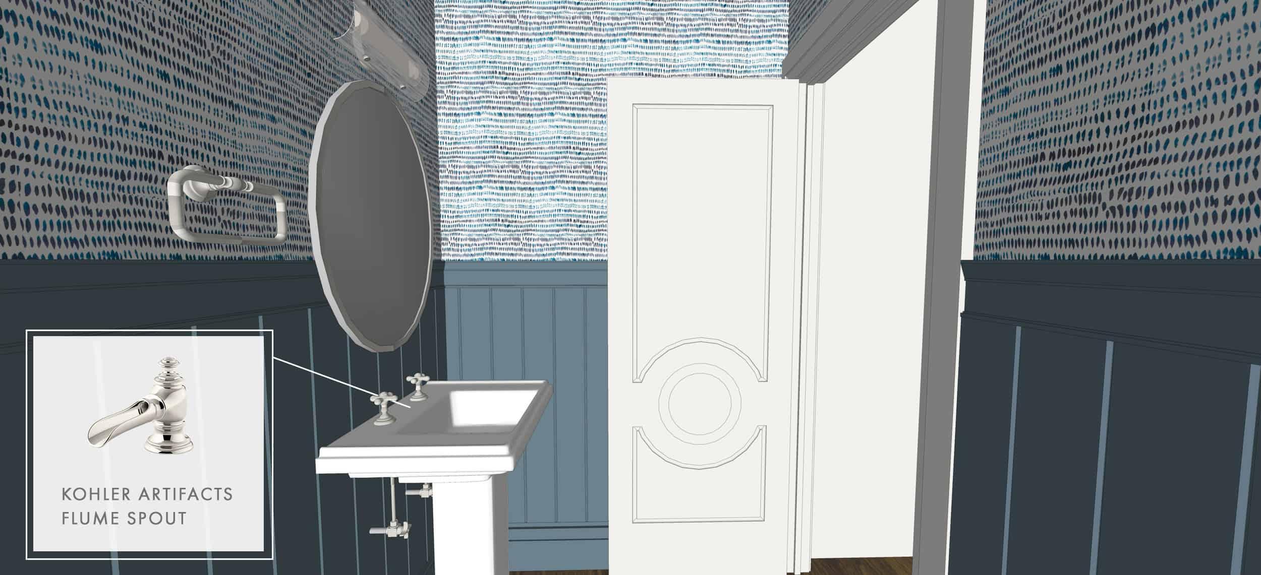 Emily Henderson Portland Traditional Fixer Upper Powder Bath Update Render 02