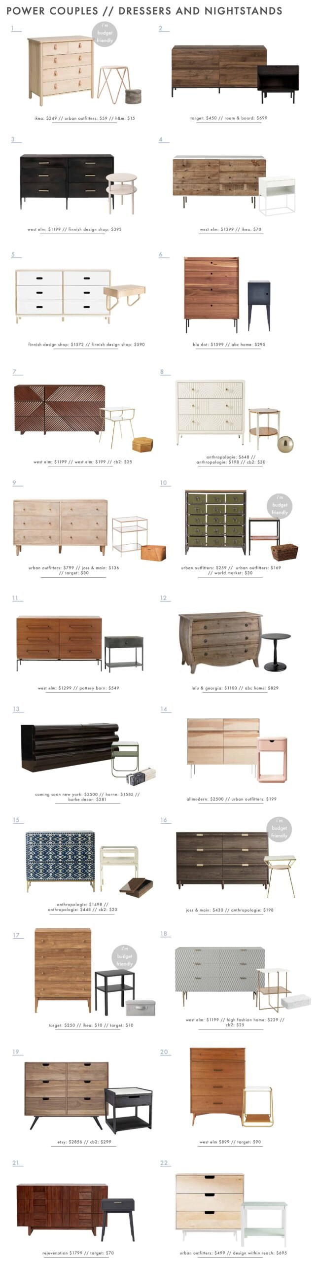 Emily Henderson Power Coulpes Nightstand Dresser Roundup