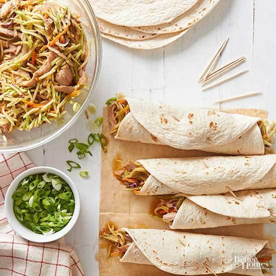 Easy Kid Friendly Slow Cooker Meals Turkey Slaw Wraps