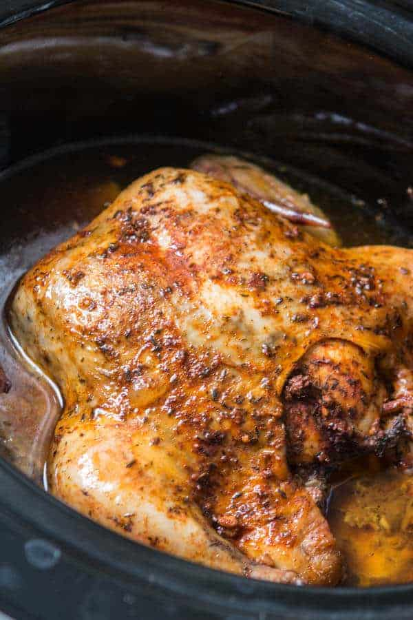 Easy Kid Friendly Slow Cooker Meals Slow Cooker Whole Chicken Ohsweetbasil.com 2