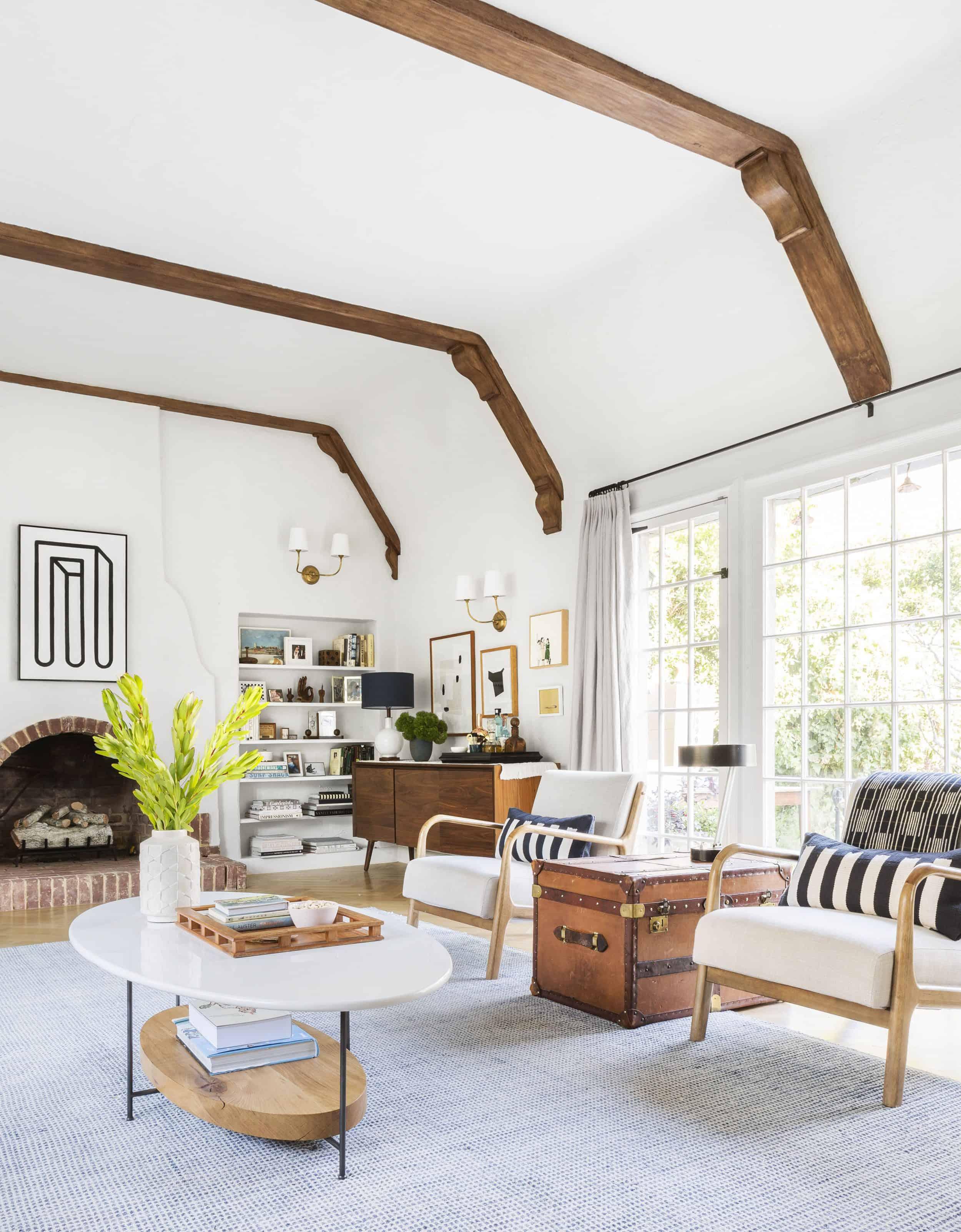 Emily Henderson Modern English Bungalow Living Room