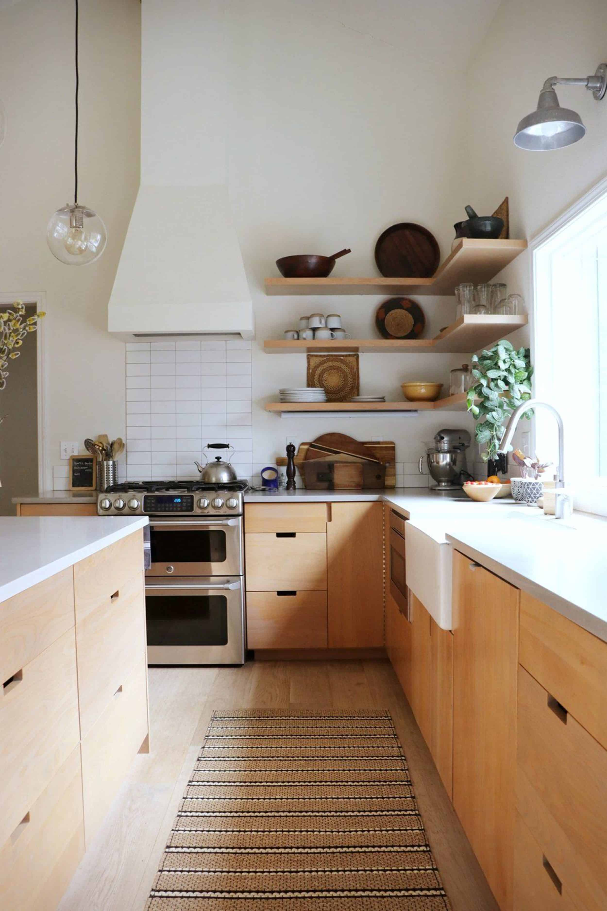 Natural Wood Organic Kitchen