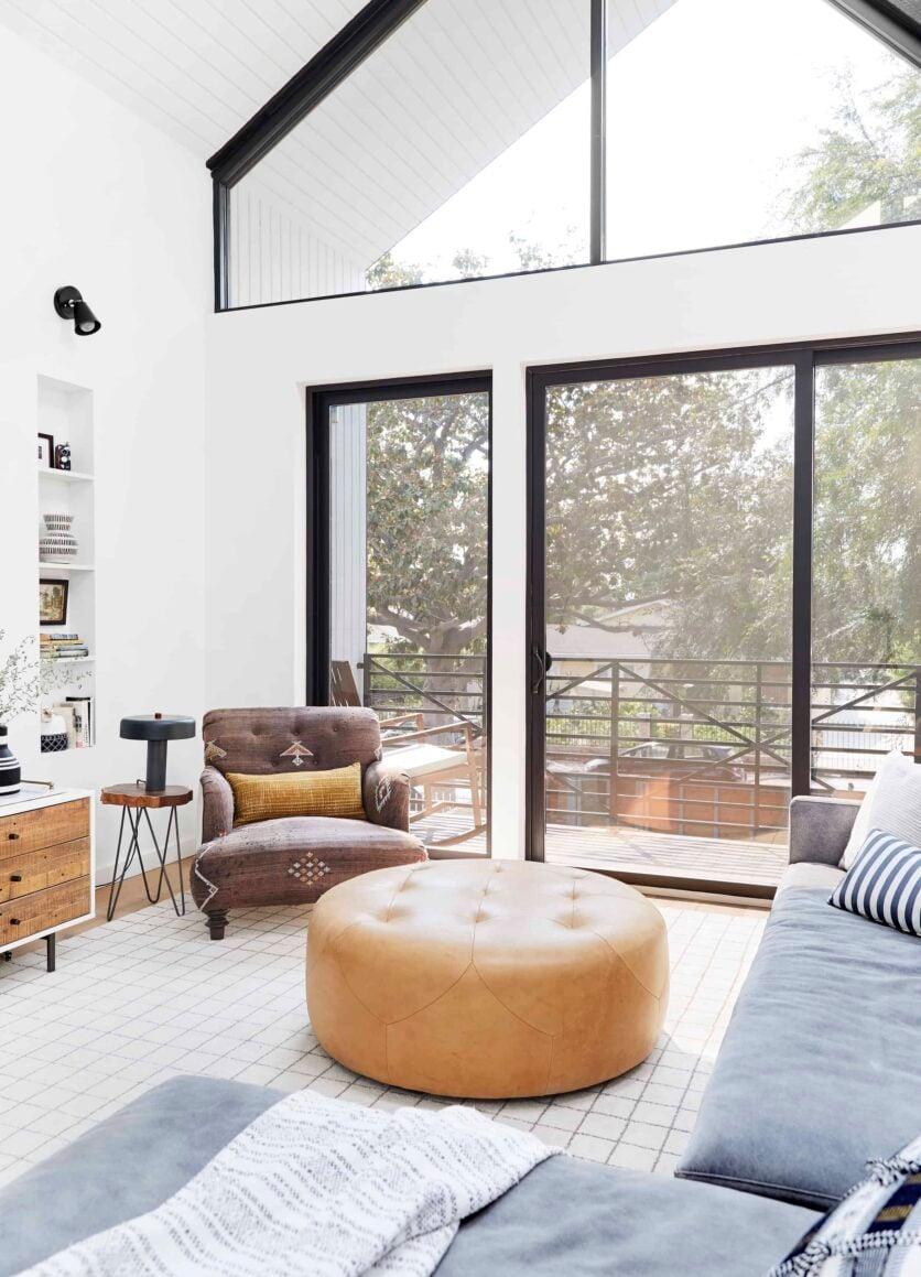 Bright Modern Kid Friendly Cozy Comfortable Family Tv Room Emily Henderson1