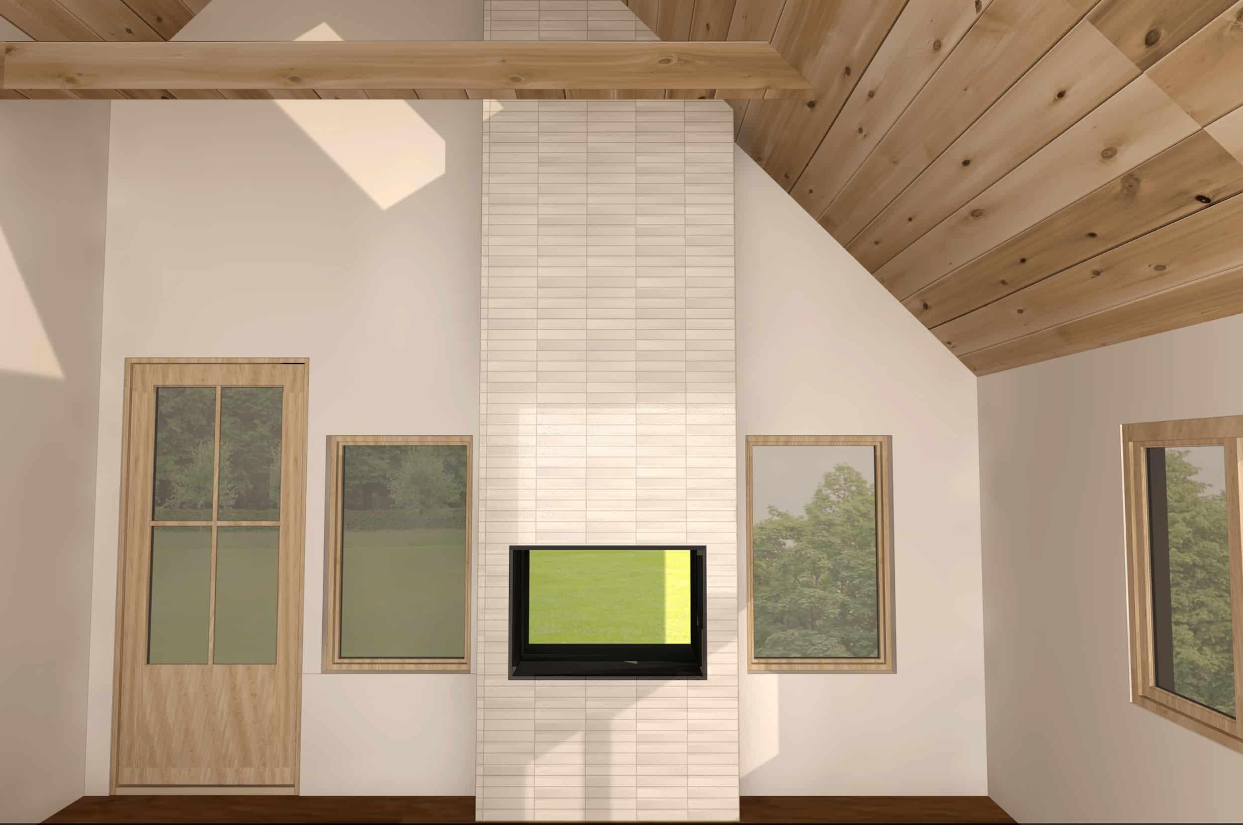 Emily Henderson Design Mountain Fixer I Design You Decide Master Bedroom Fireplace Whitebrick2 1