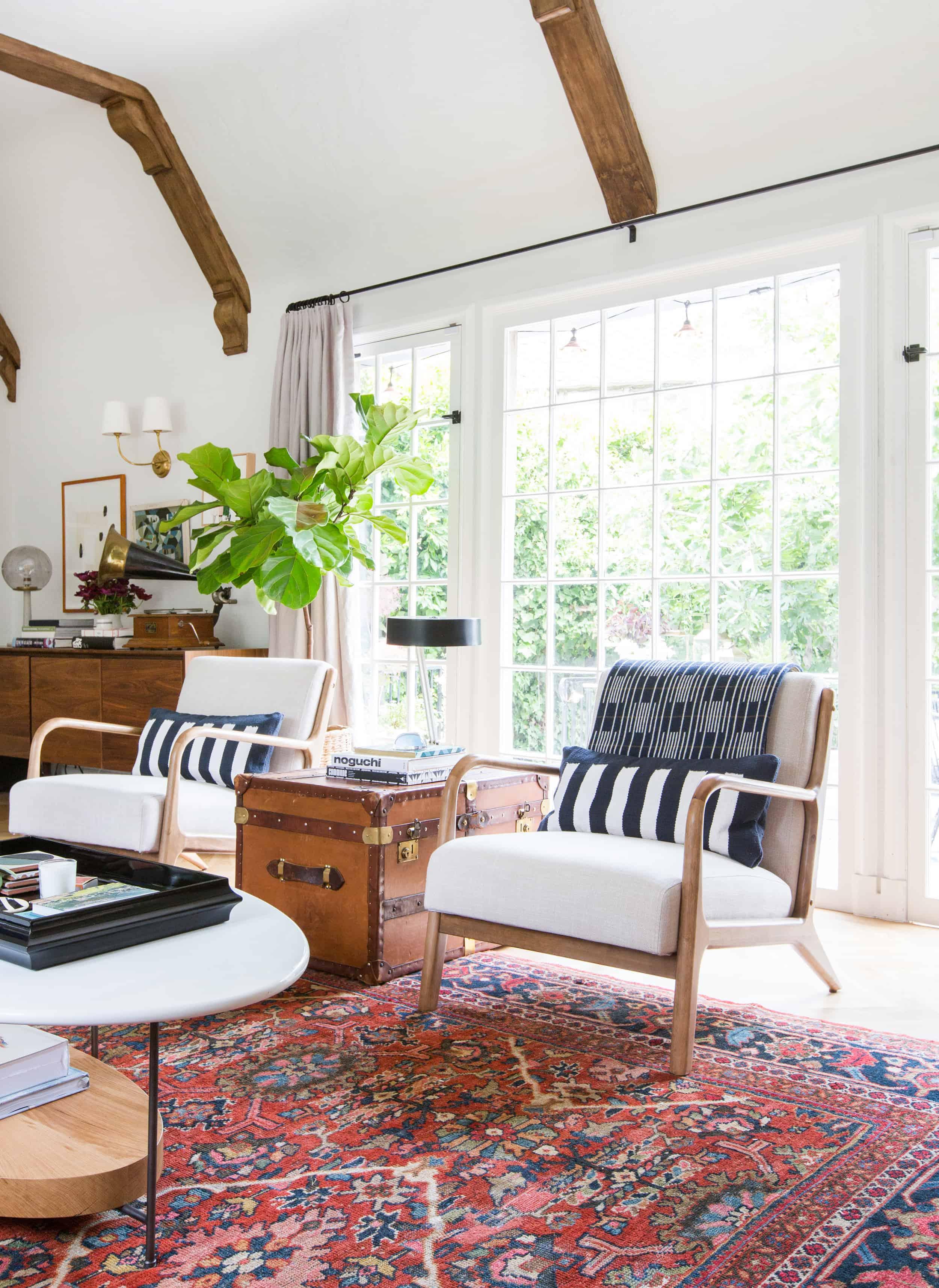 Emily Henderson Modern English Cottage Tudor Living Room Reveal11