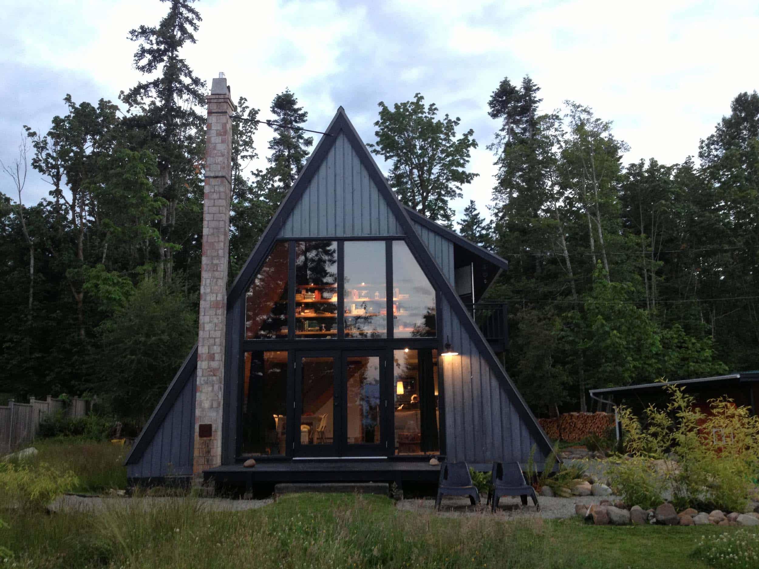 A Frame Cabin Dark Gray Exterior