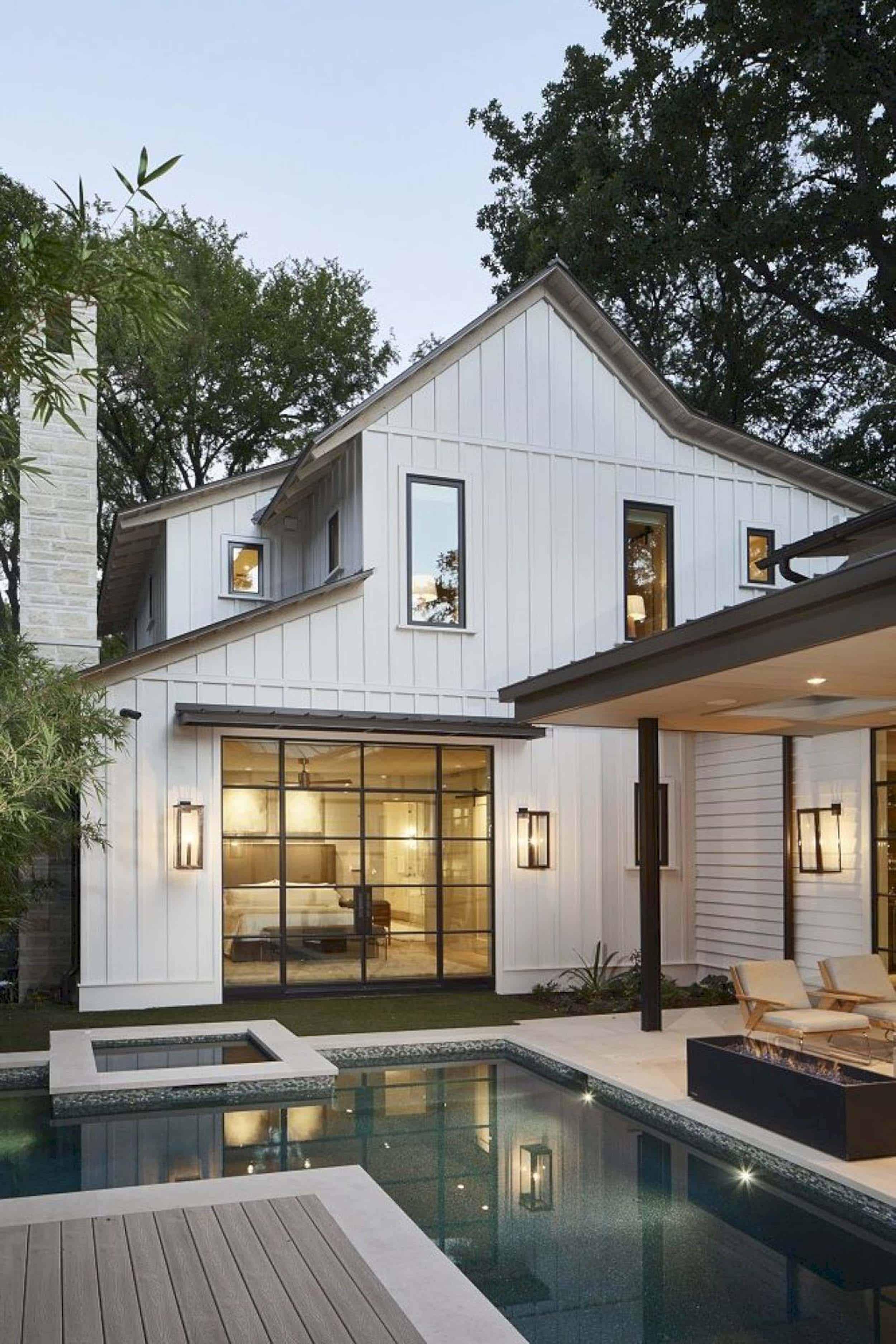 White Siding Home Exterior