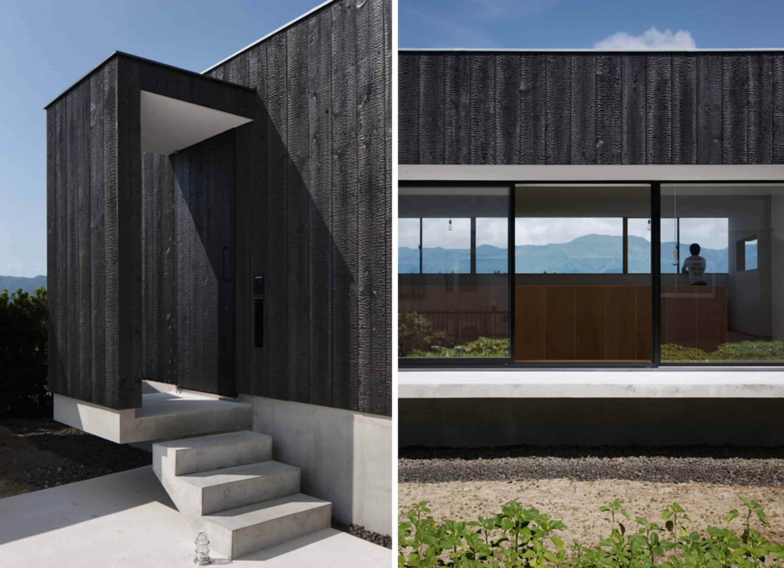 Shou Sugi Ban Black Wood Modern Exterior