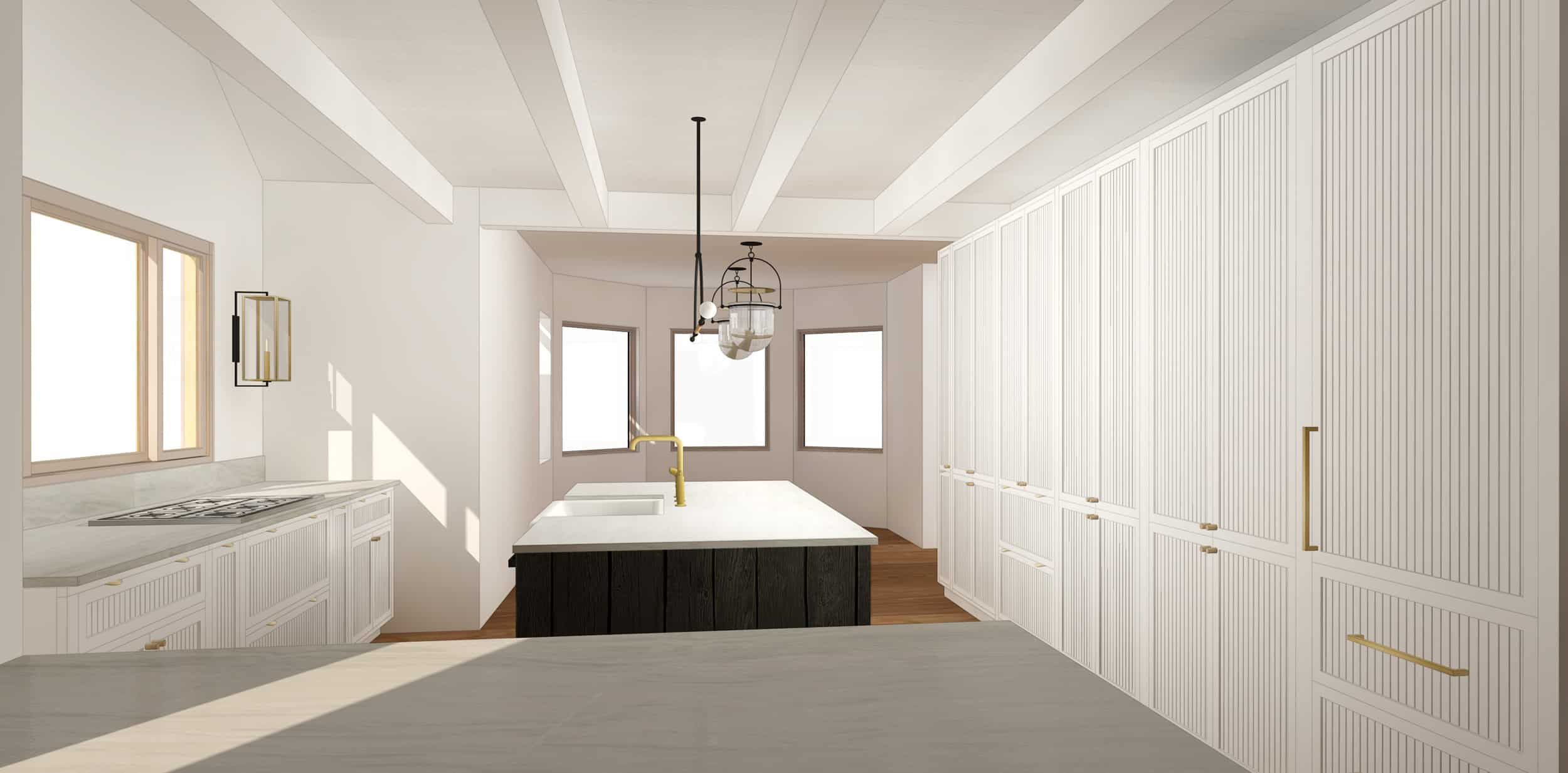 Emily Henderson Mountain House Kitchen Evolution Kitchensumnt Grooved Shaker 01 Final