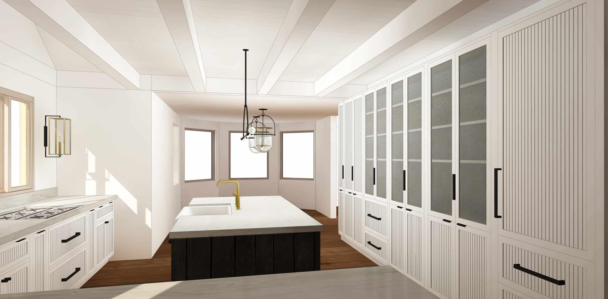 Emily Henderson Mountain House Kitchen Evolution Kitchensumnt Grooved Shaker Glass 01 Final