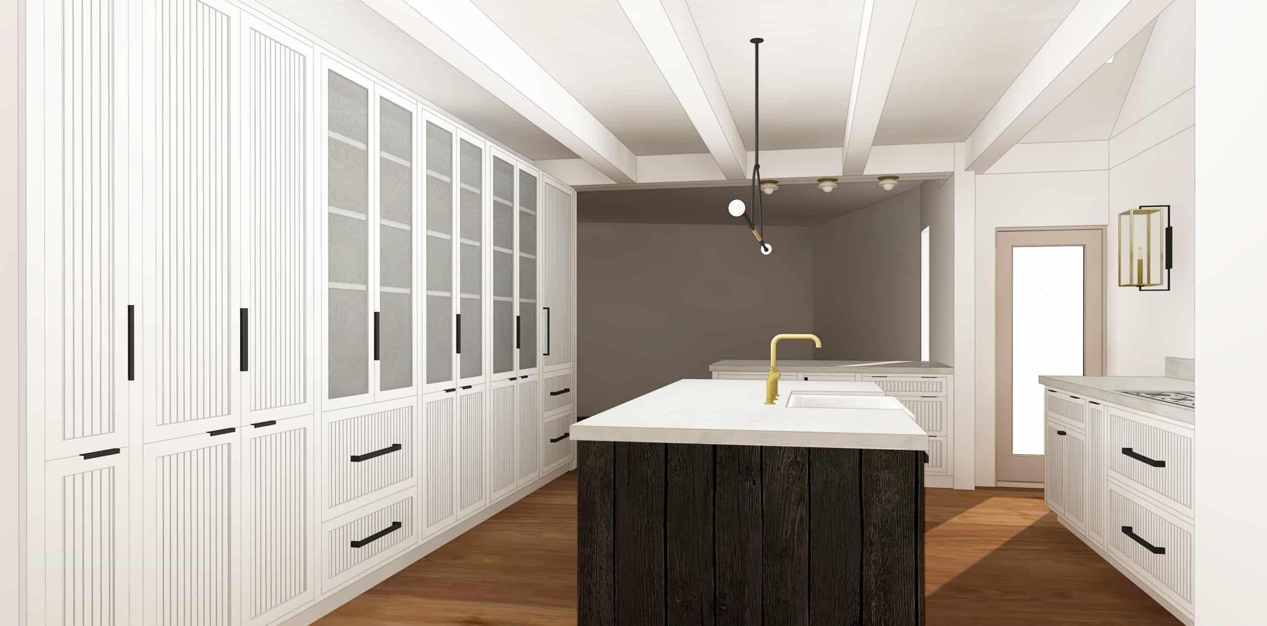 Emily Henderson Mountain House Kitchen Evolution Kitchensumnt Grooved Shaker Glass 02