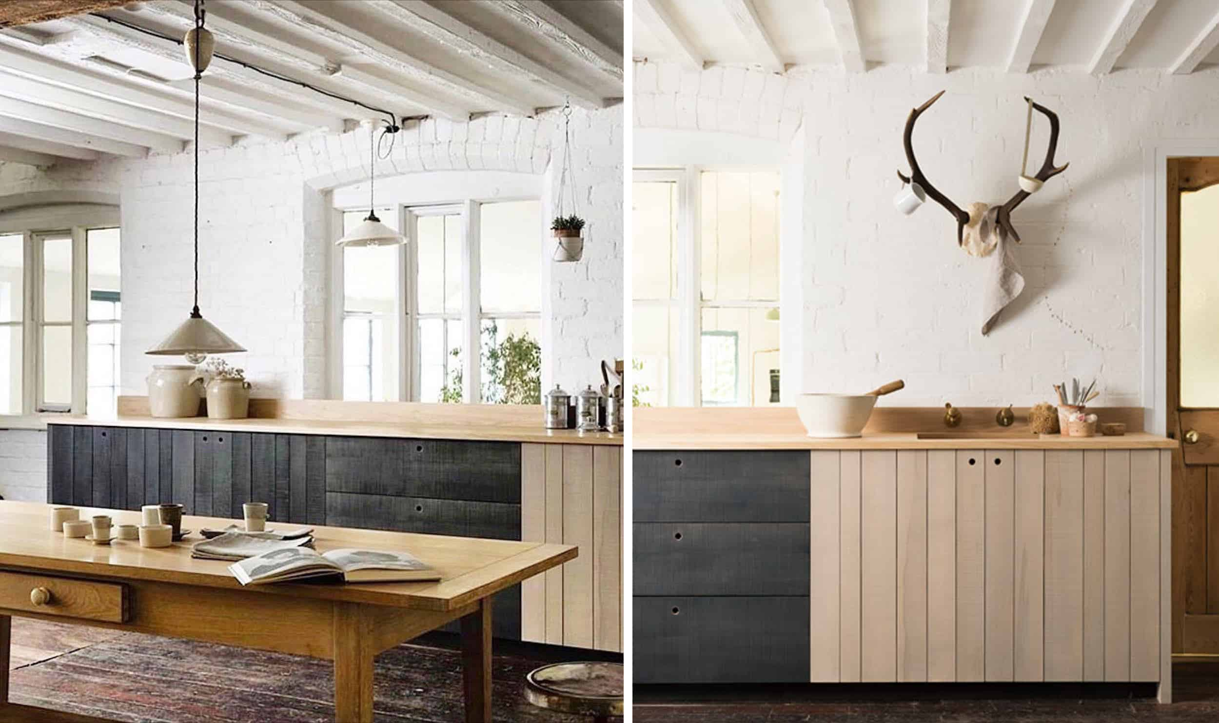 Black Wood Modern Scandinavian Kitchen