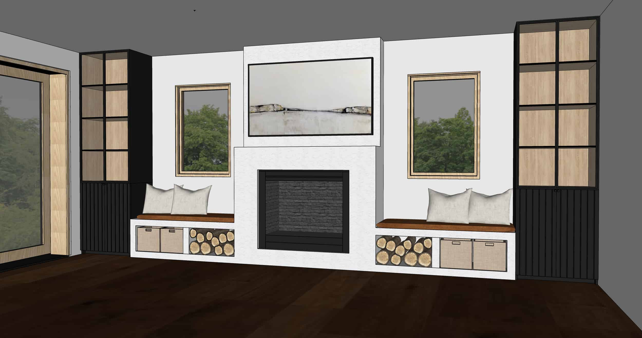 Emily Henderson Mountain Fixer Upper Family Room Fireplace Notes From Readers Option 31