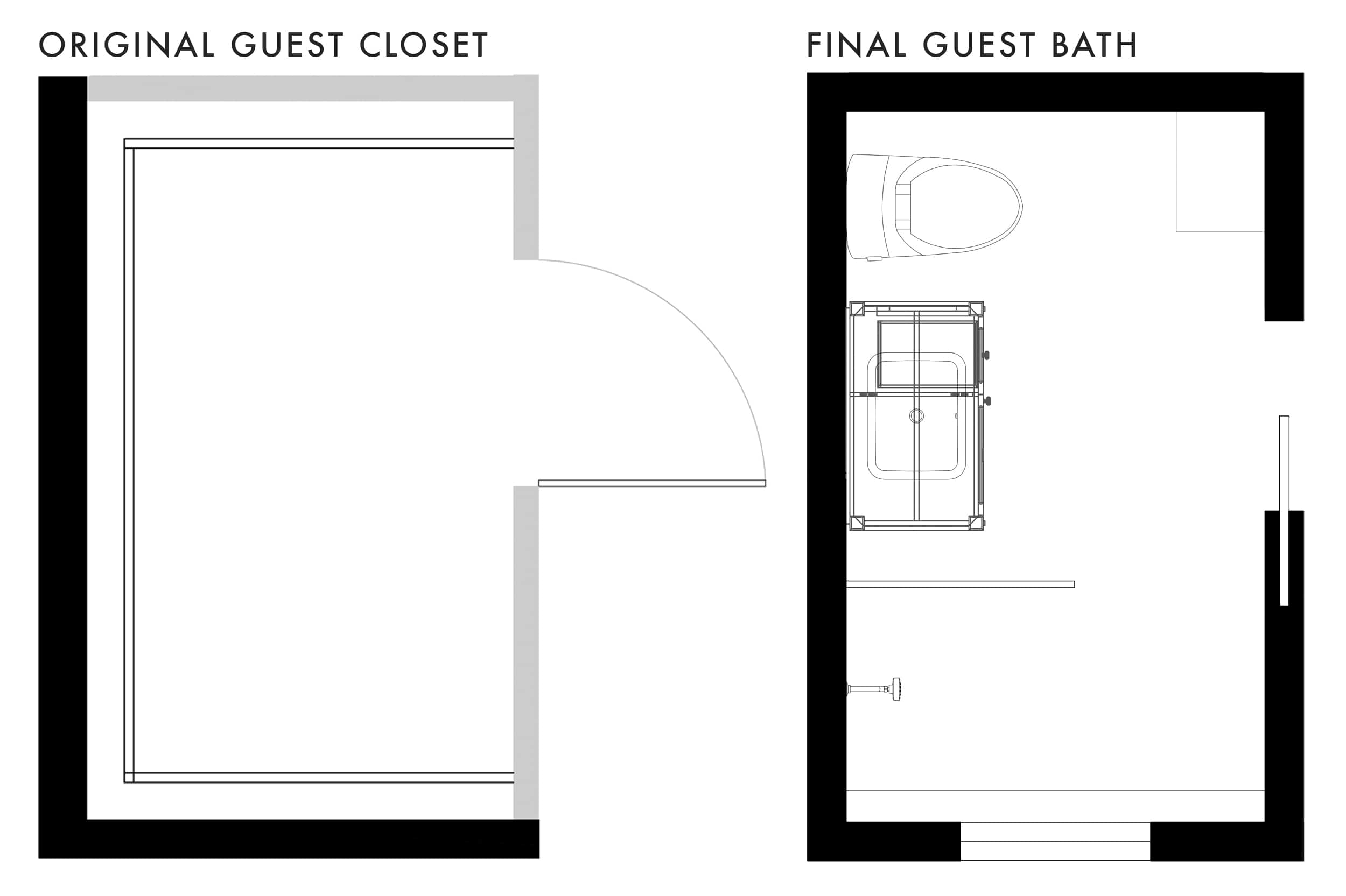 Emily Henderson Mountain Fixer Upper Second Level Guest Bath Plan Original Final