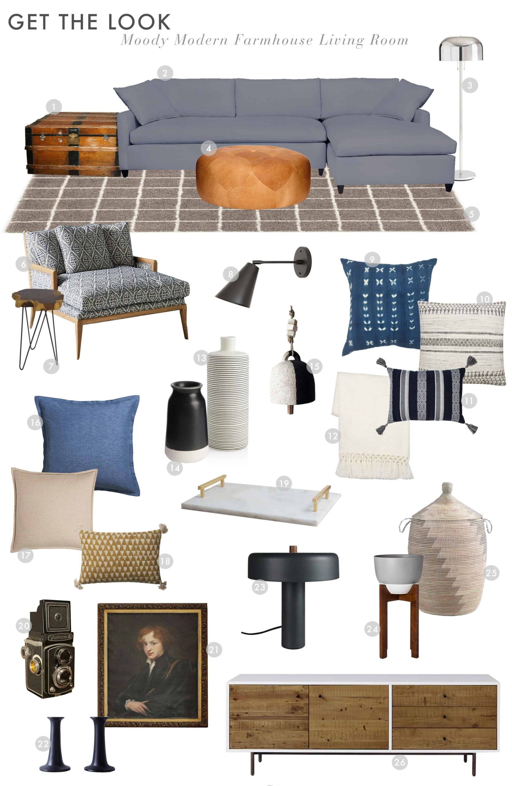 Emily Henderson Suzanne Living Room Cool Modern Edgy Farmhouse Get The Look 2