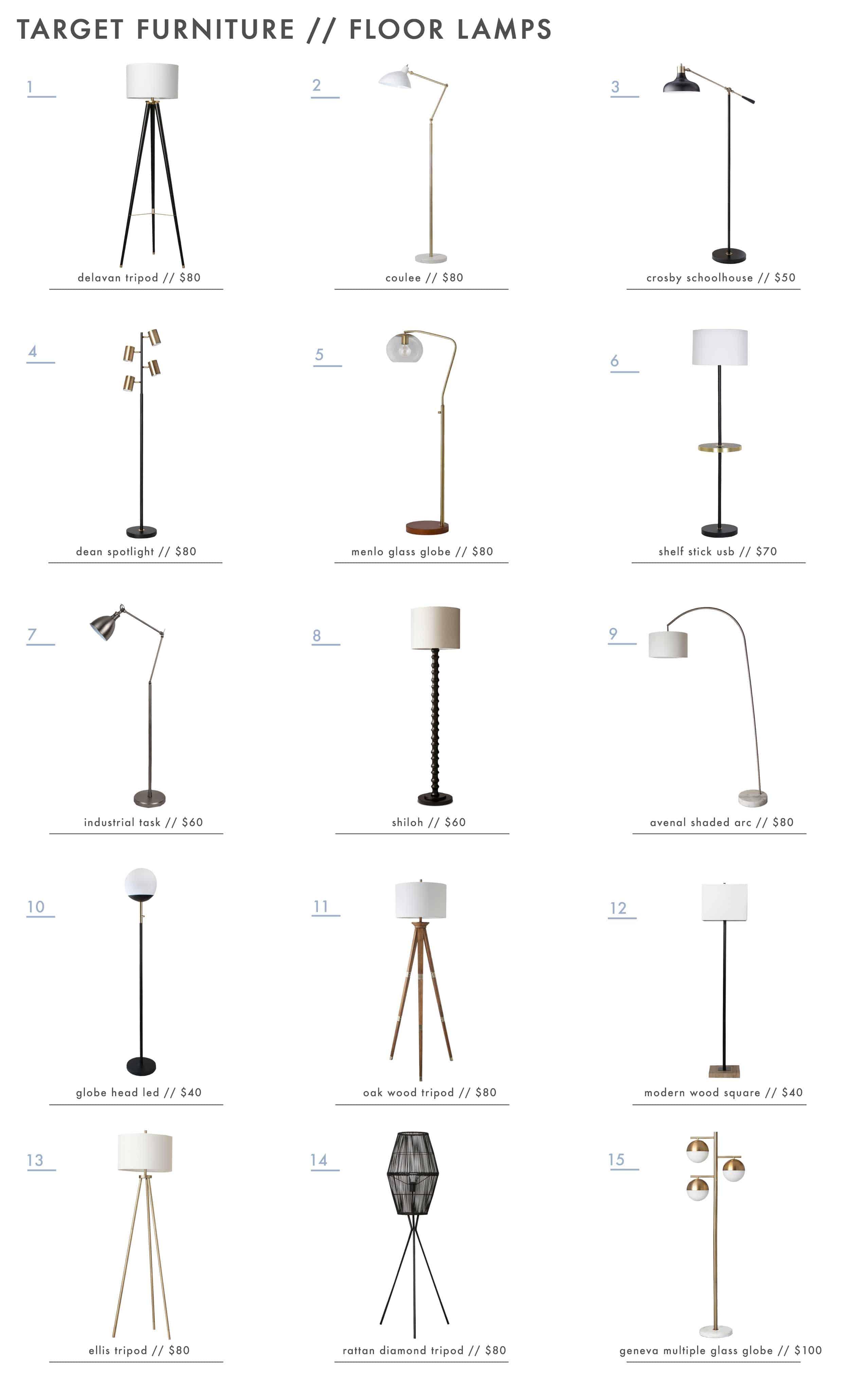 Target Best Modern Floor Lamps