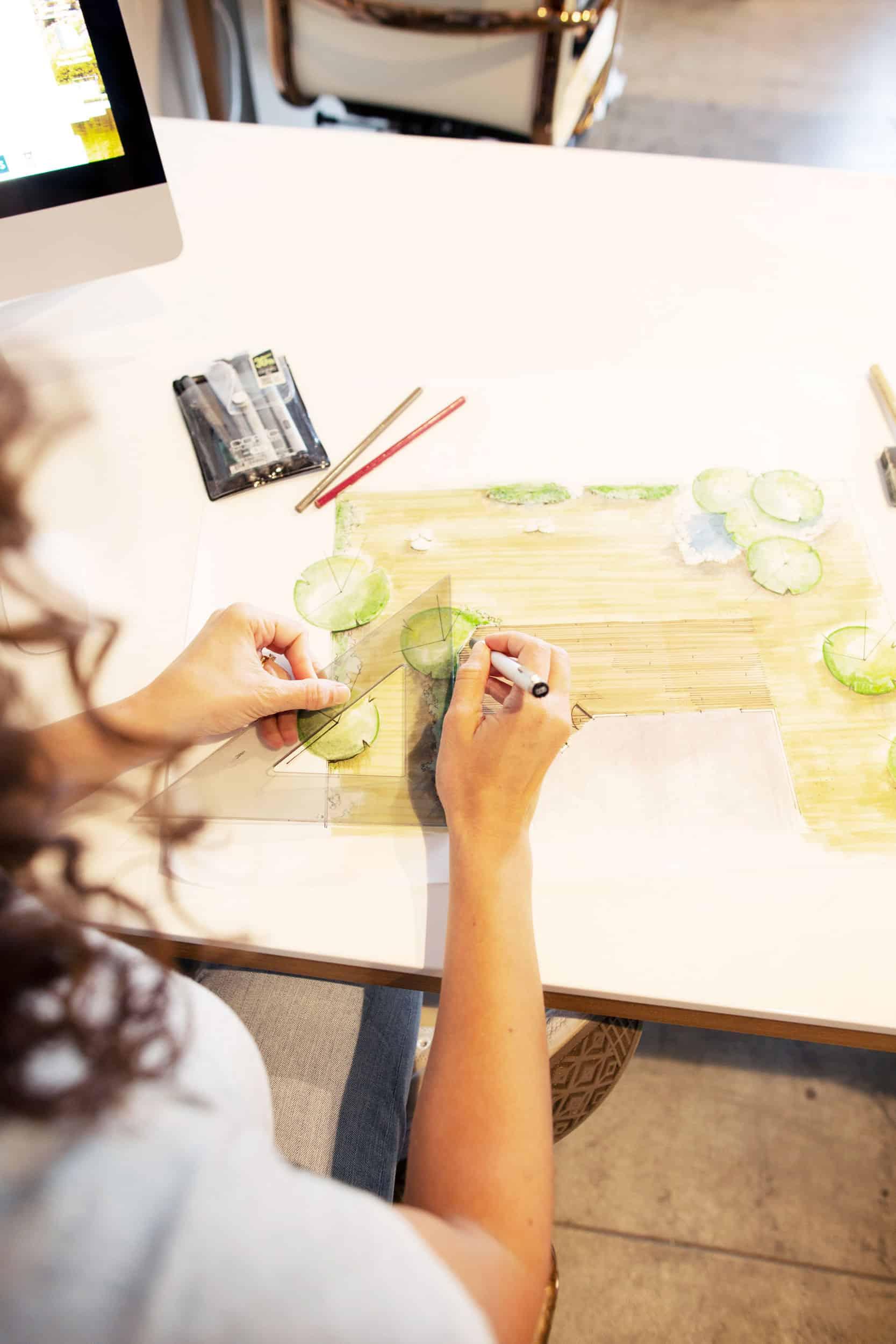 Emily Henderson Design School Advice Hand Rendering
