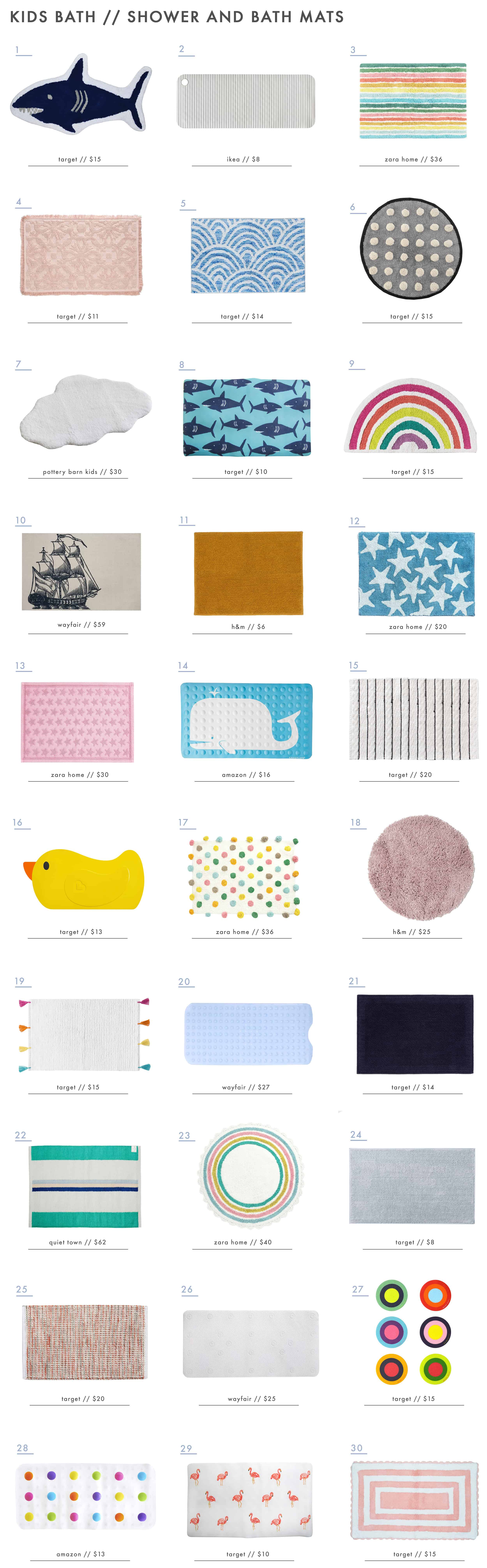 Emily Henderson Kids Bath Decor Accessories Roundup Bath And Shower Mats